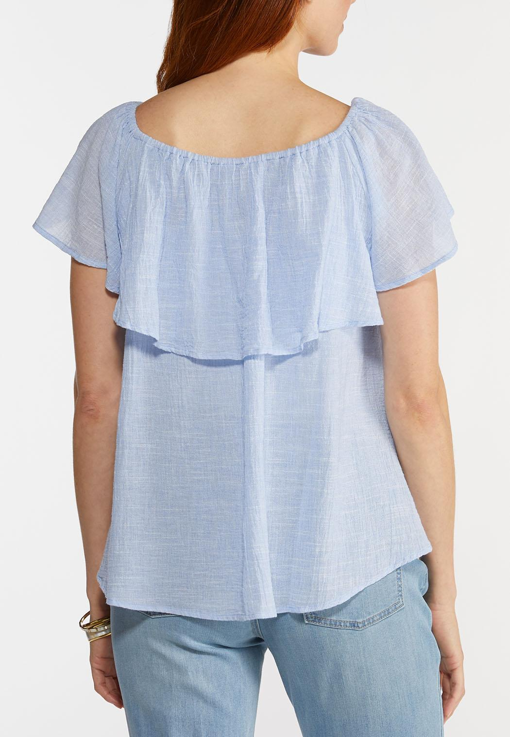 Flounced Linen Top (Item #44325331)