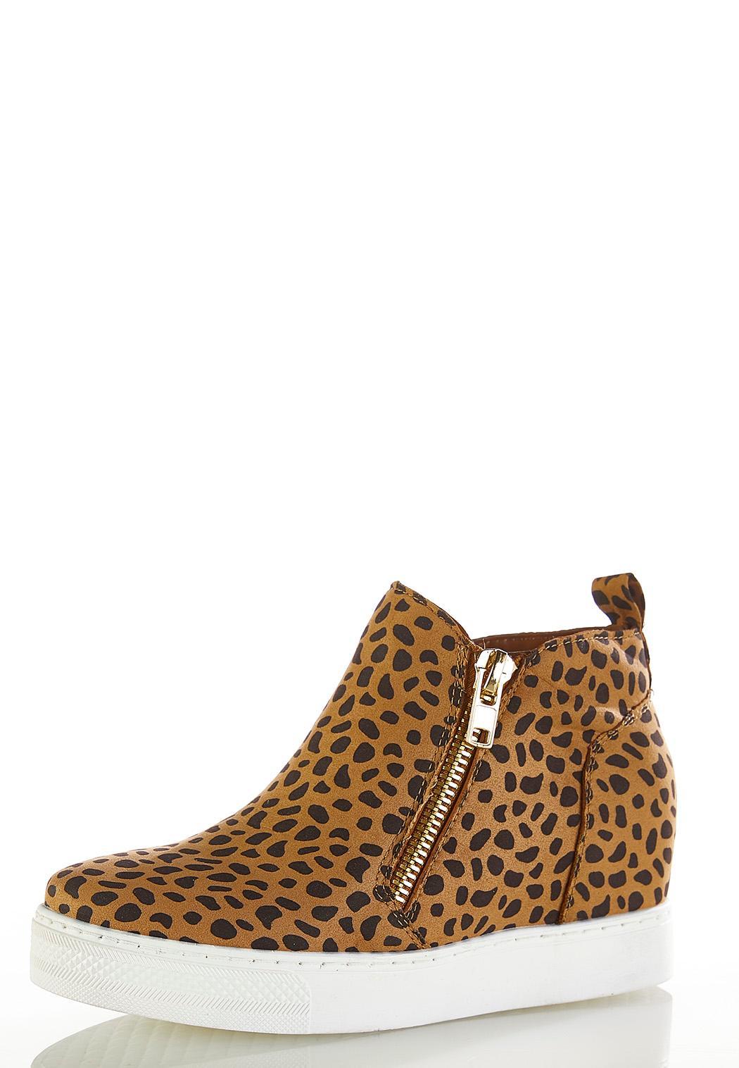 Cheetah Wedge Sneakers (Item #44325355)