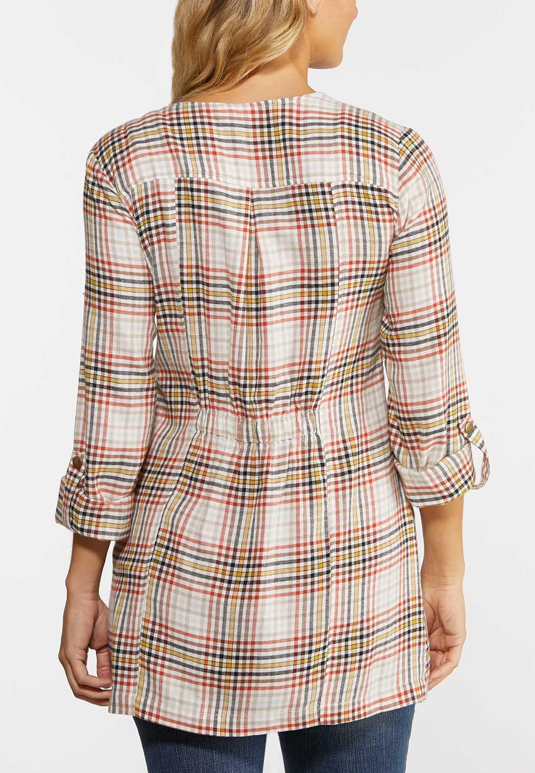 Draped Sunset Plaid Jacket (Item #44325657)