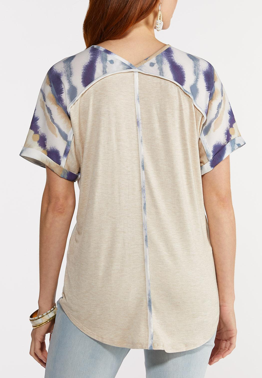 Silky Tie Dye Top (Item #44325758)