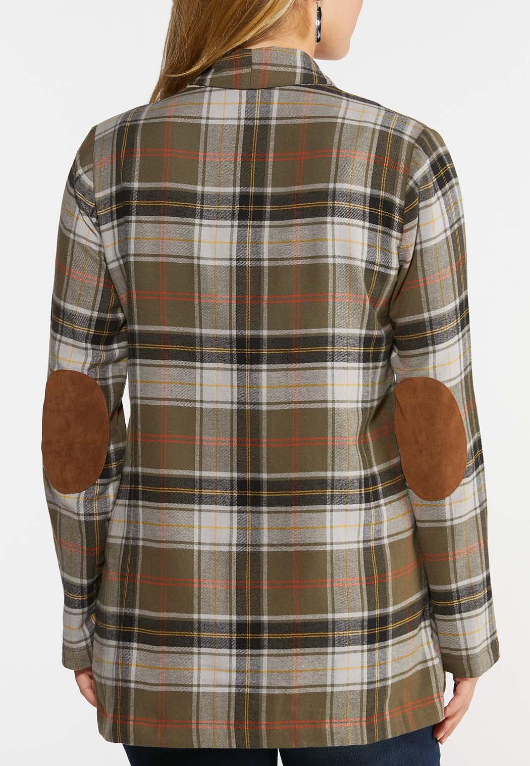 Plaid Elbow Patch Jacket (Item #44326238)