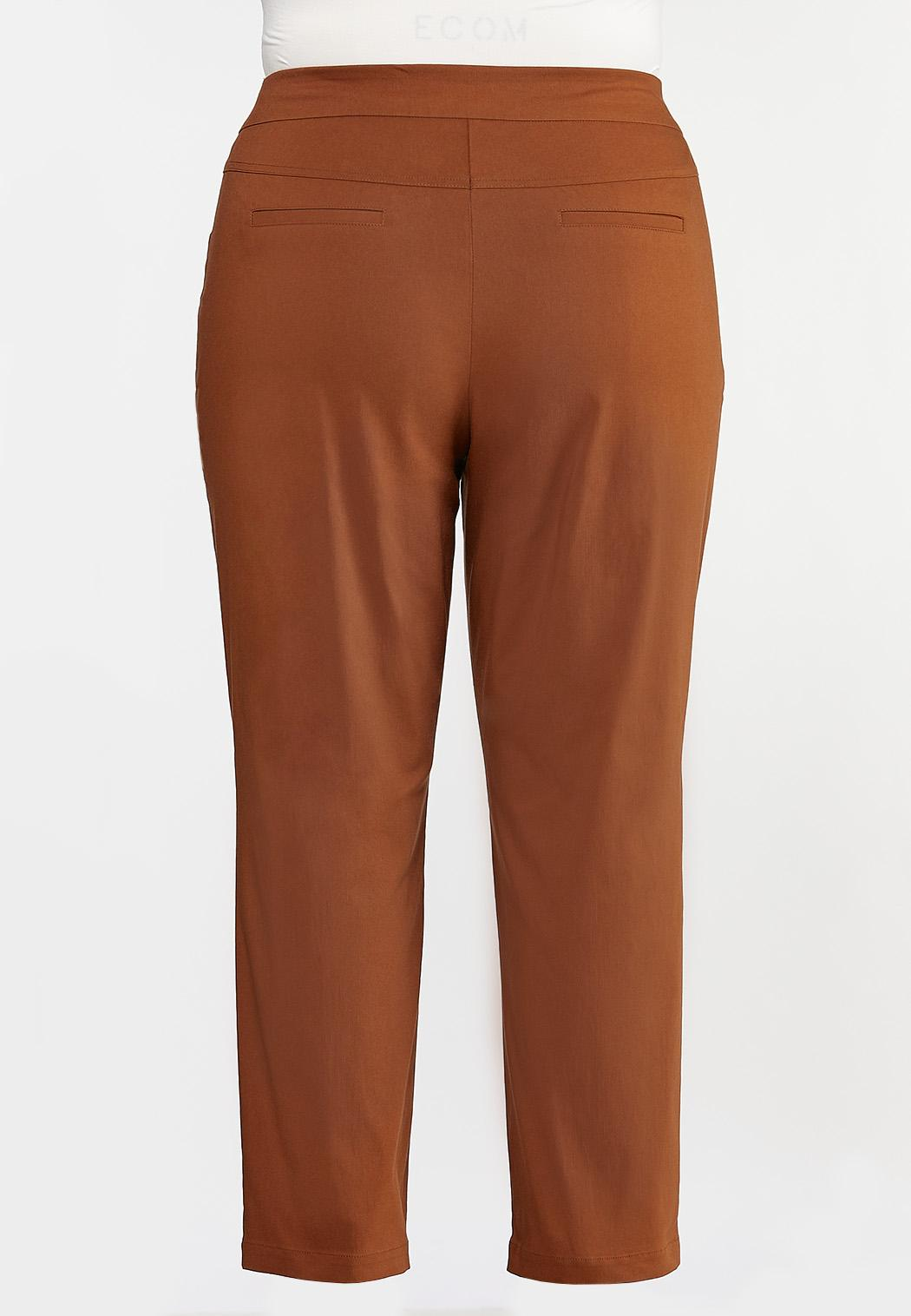 Plus Size Slim Bengaline Pants (Item #44326661)