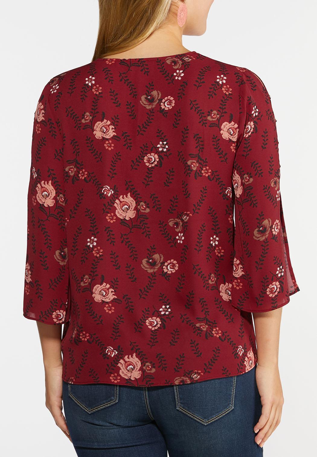 Embellished Split Sleeve Top (Item #44326896)