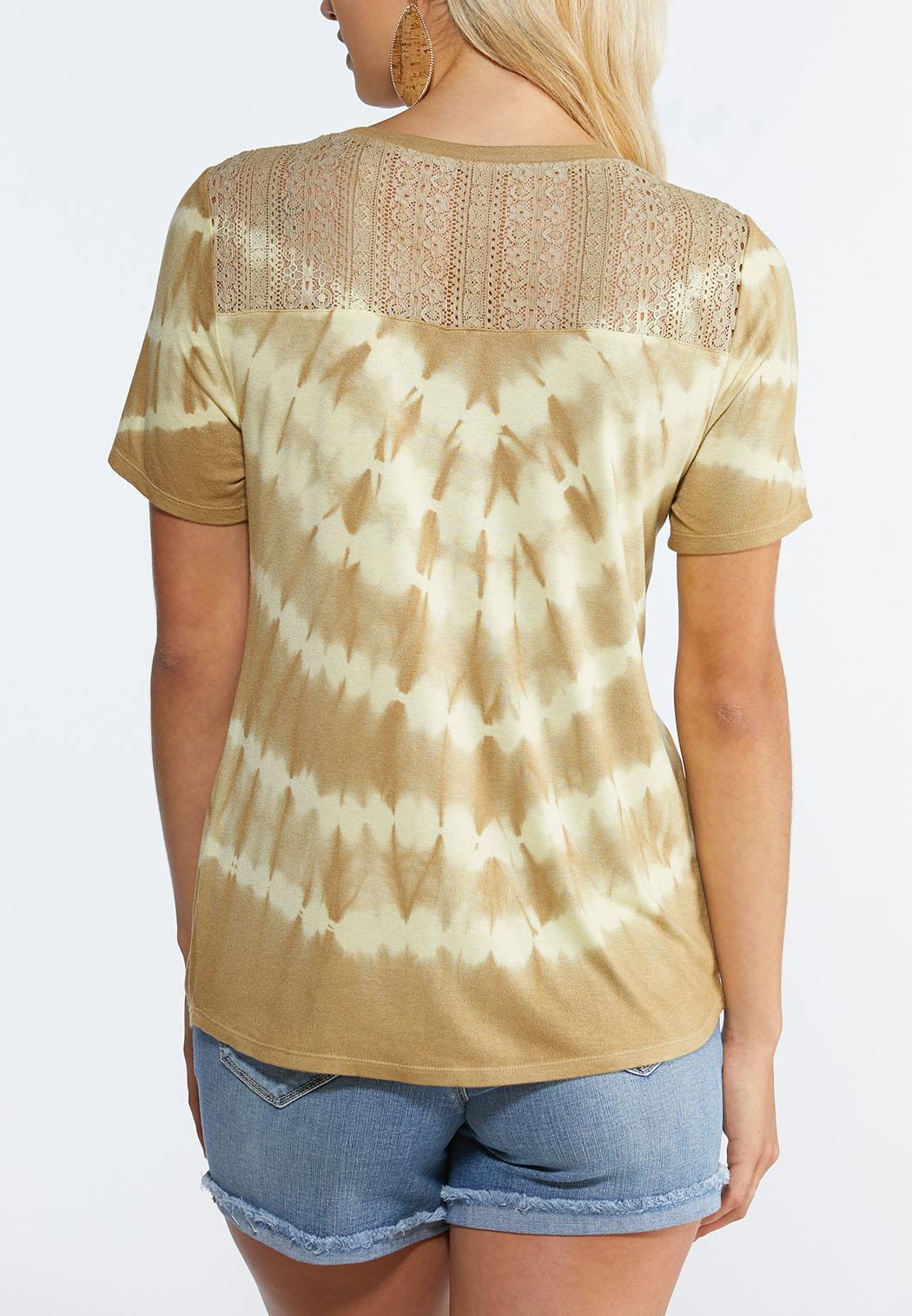 Tie Dye Twisted Hem Tee (Item #44327992)