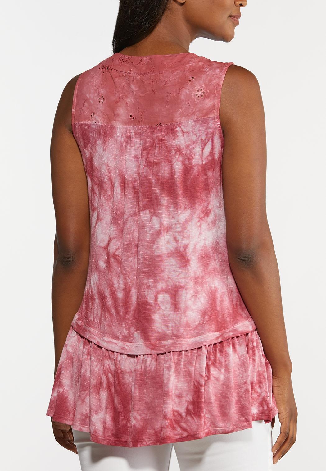 Tie Dye Peplum Tunic (Item #44328002)