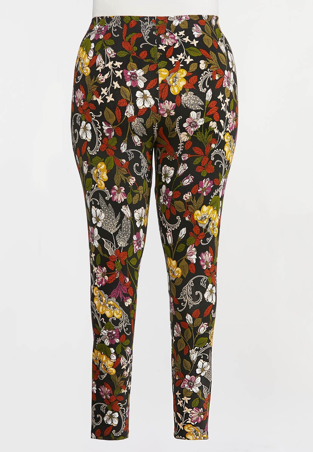 Plus Size Garden Floral Leggings (Item #44328035)