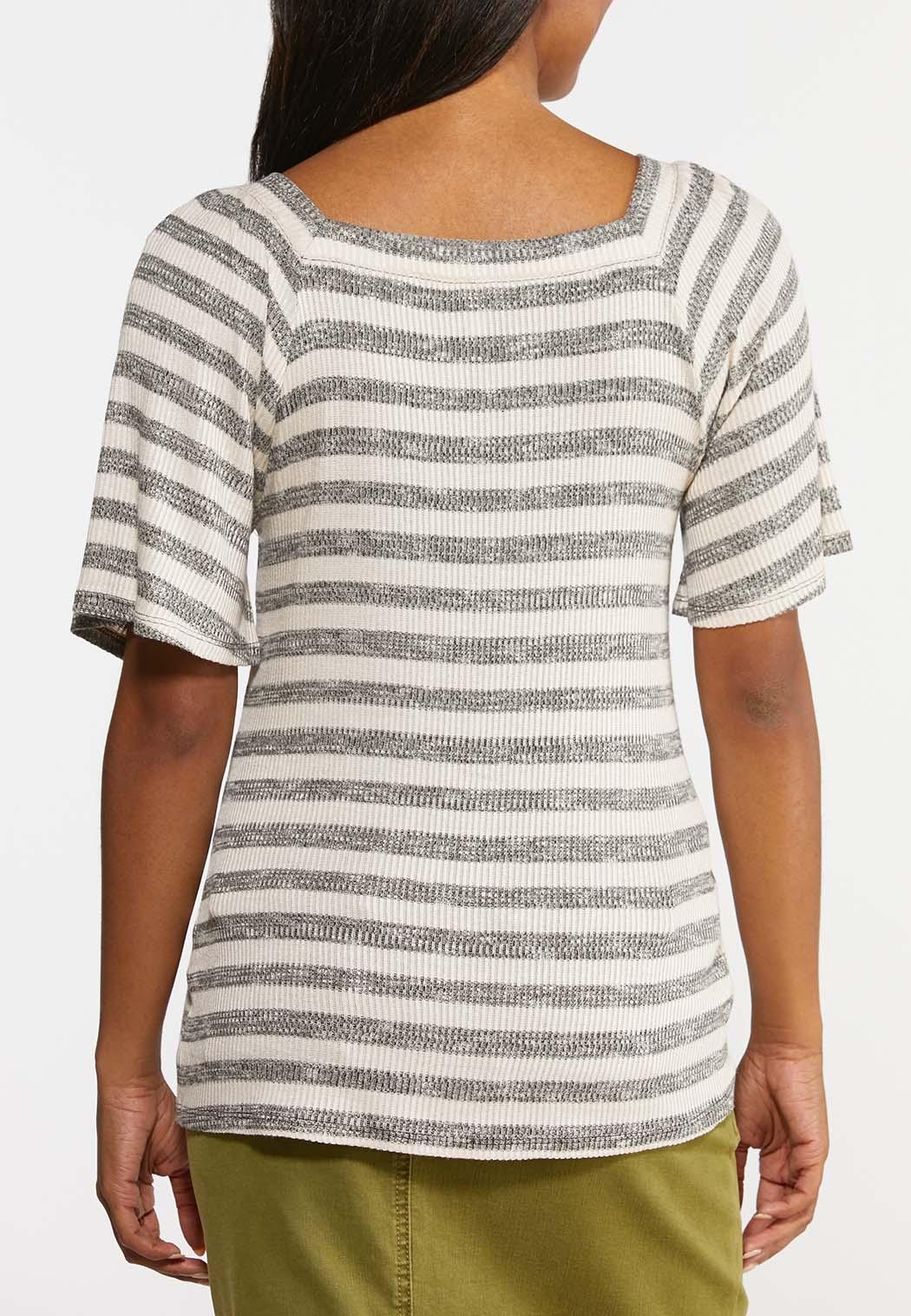 Stripe Ribbed Top (Item #44328253)