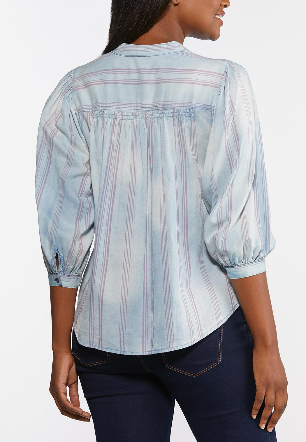 Stripe Chambray Top (Item #44328782)