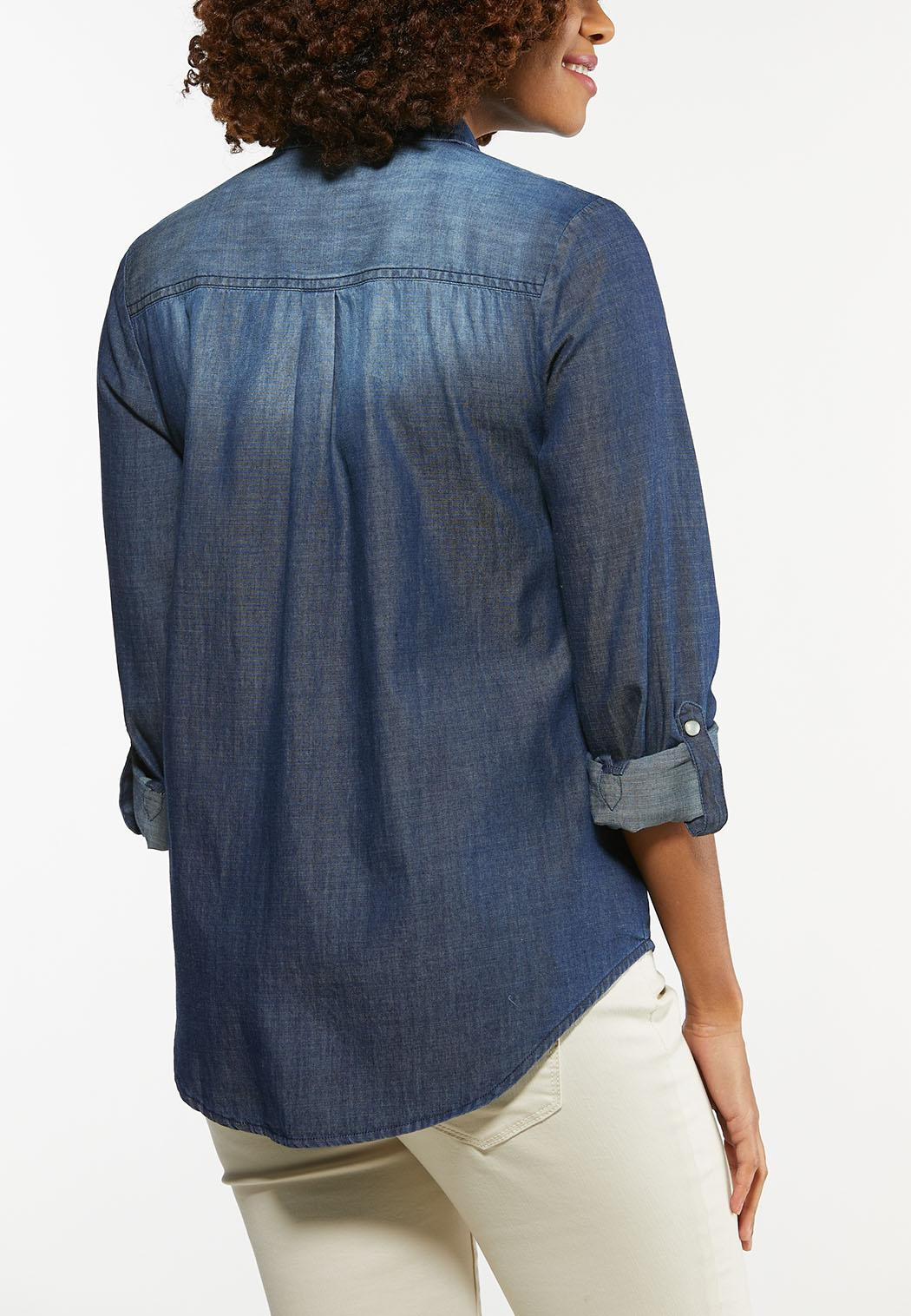 Chambray Snap Button Shirt (Item #44329070)