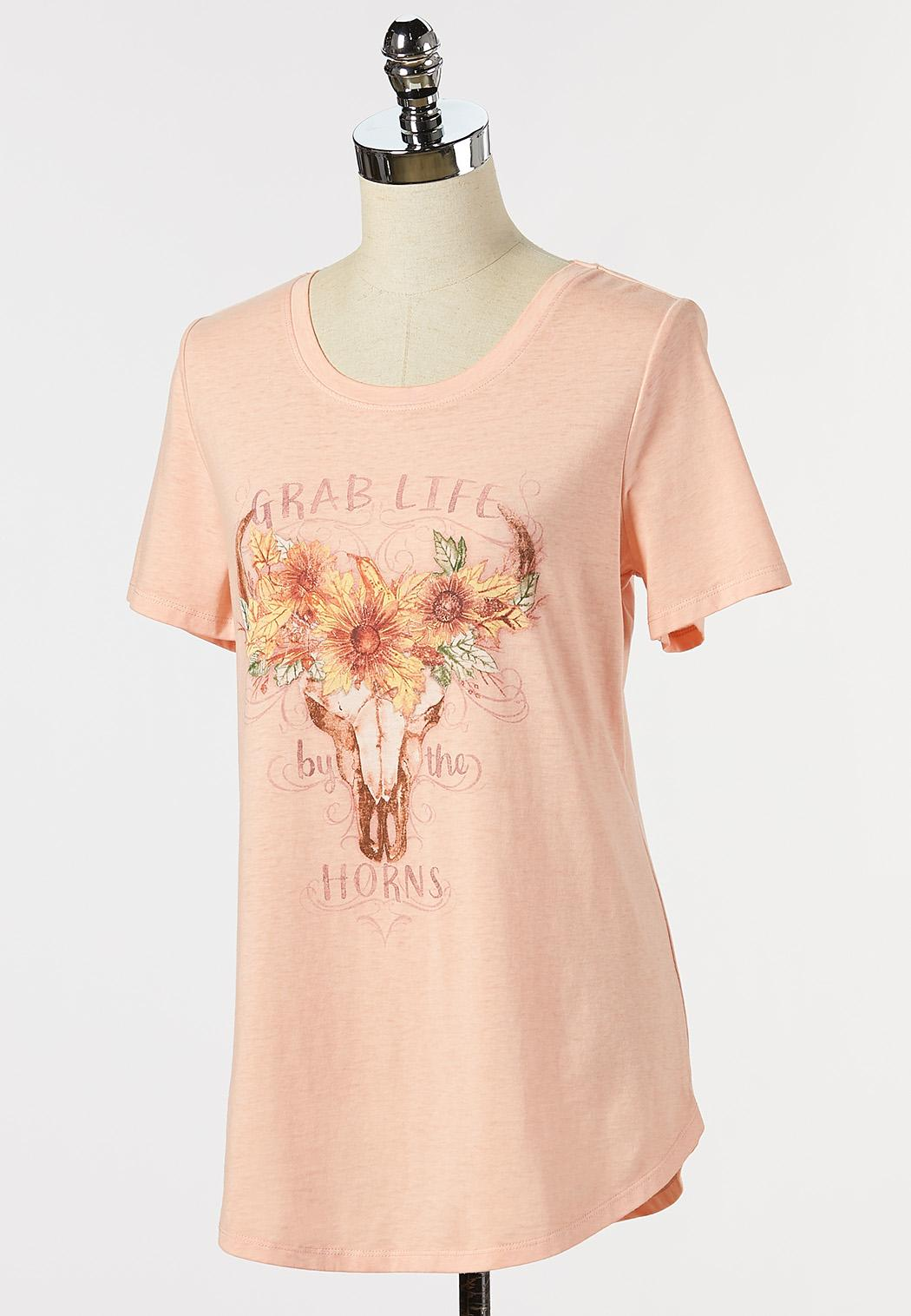 Plus Size Grab Life By Horns Tee (Item #44329228)