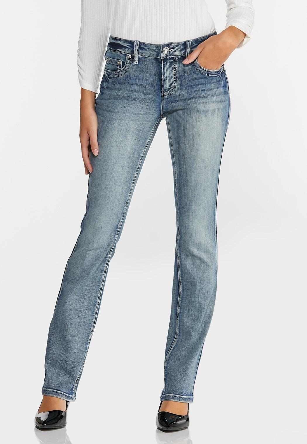 Petite Embellished Fleur De Lis Jeans (Item #44329553)