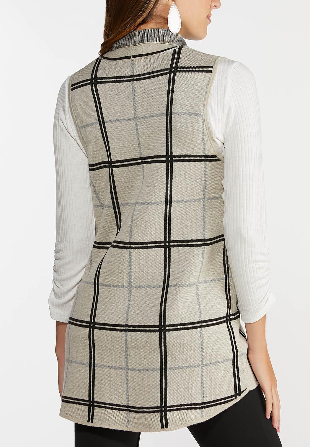 Plus Size Plaid Sweater Vest (Item #44329685)