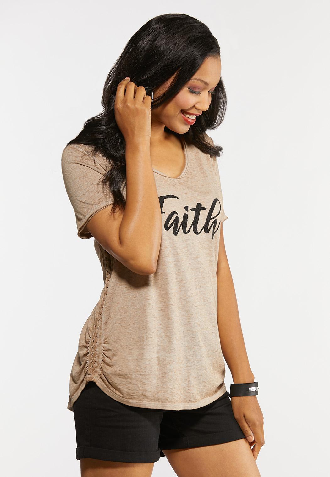 Plus Size Beaded Faith Top (Item #44329876)