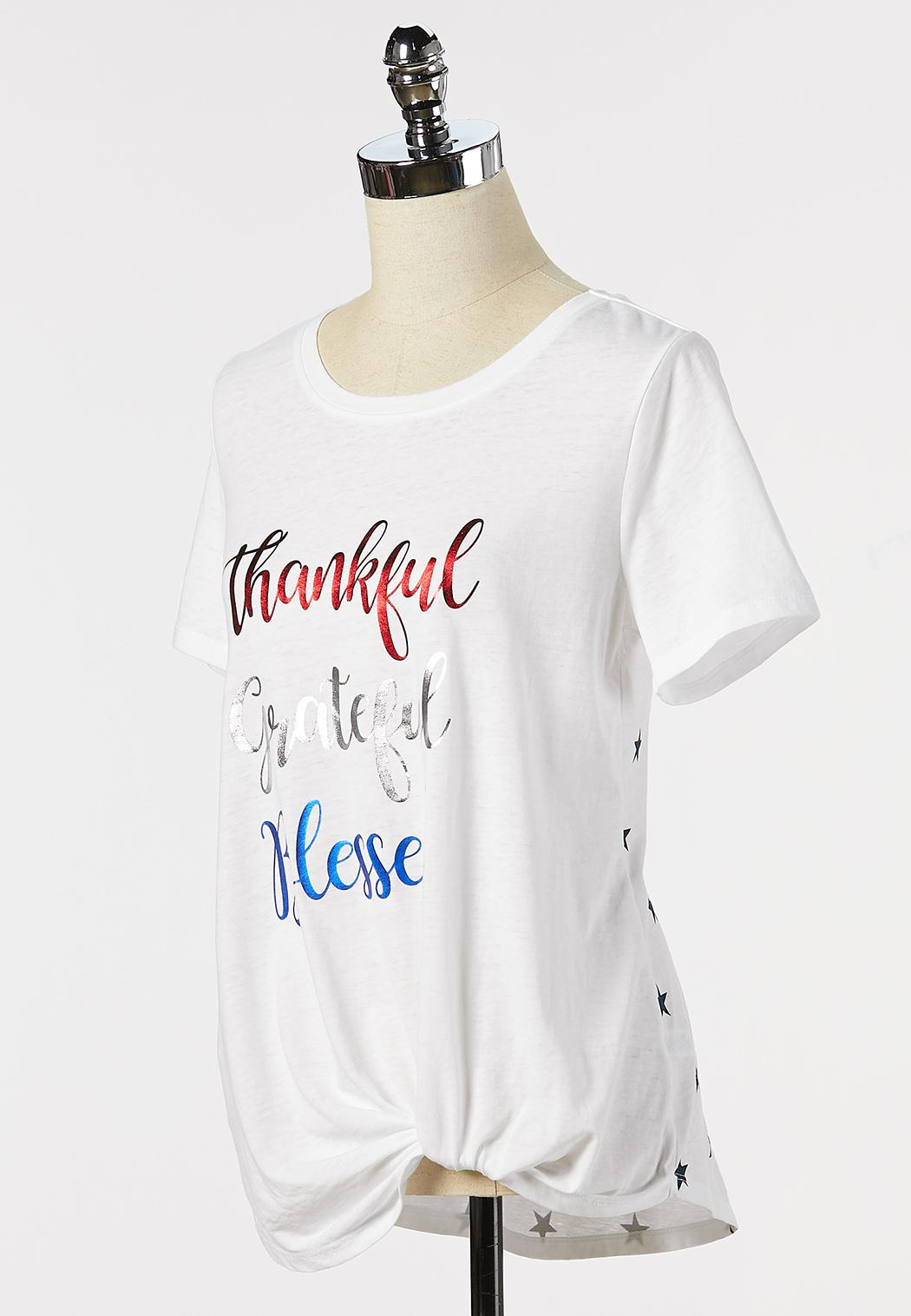 Plus Size Inspirational Knotted Tee (Item #44329931)