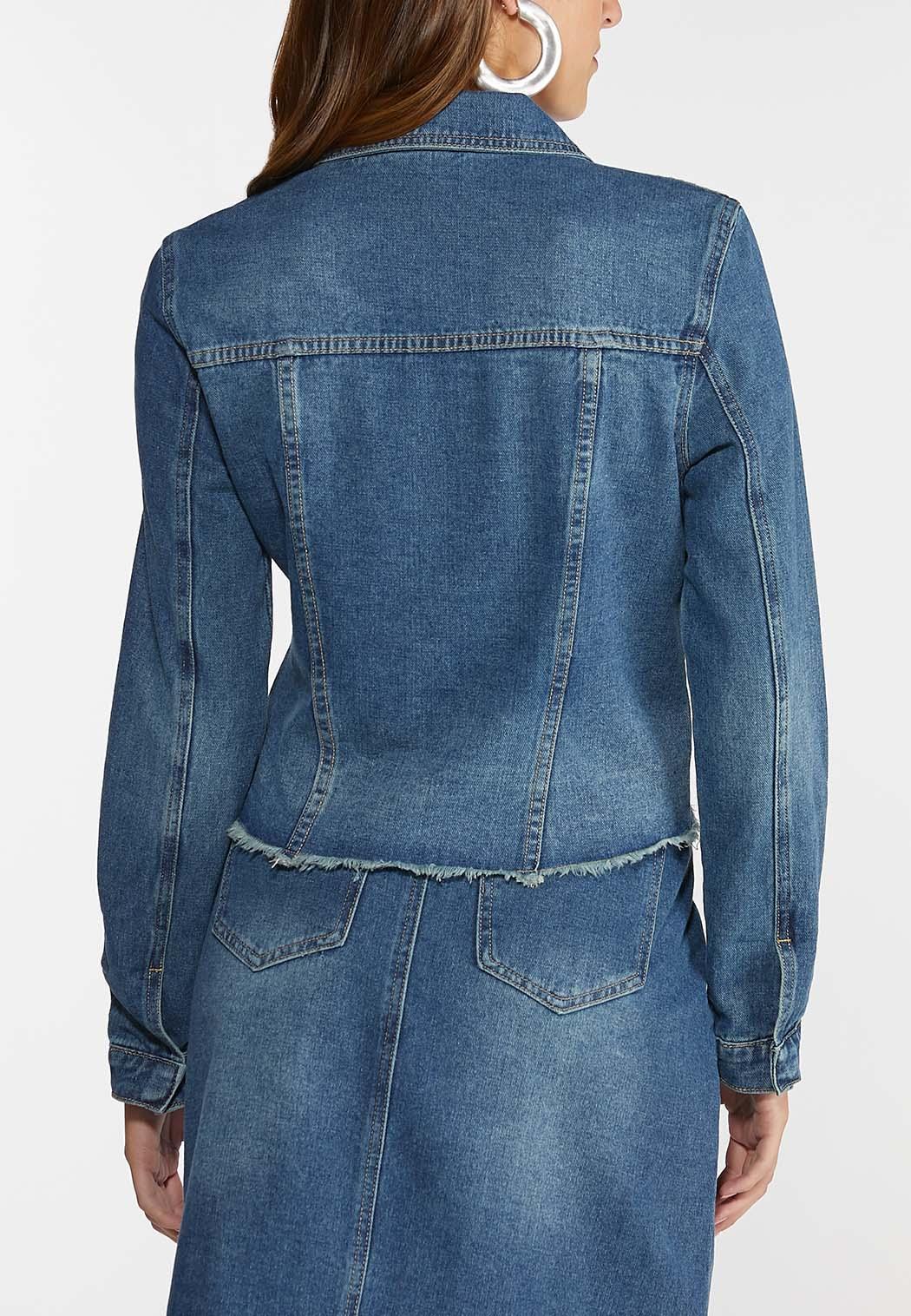Boucle Button Denim Jacket (Item #44330070)