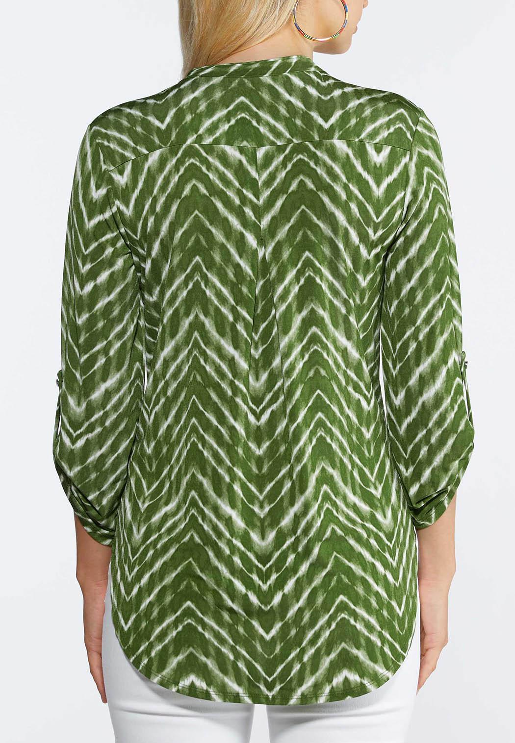 Green Tie Dye Top (Item #44330108)