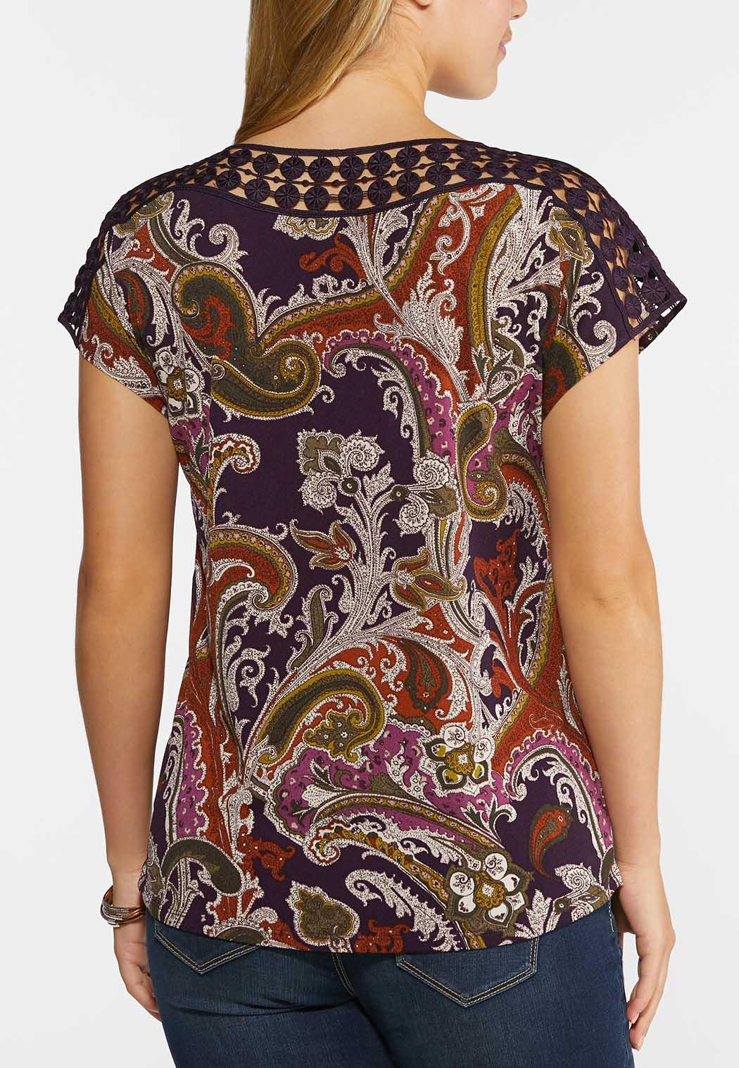 Purple Paisley Top (Item #44330138)