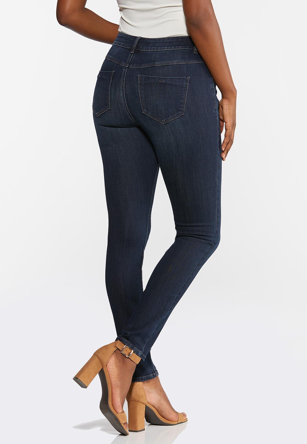 Dark Wash Skinny Jeans (Item #44332428)