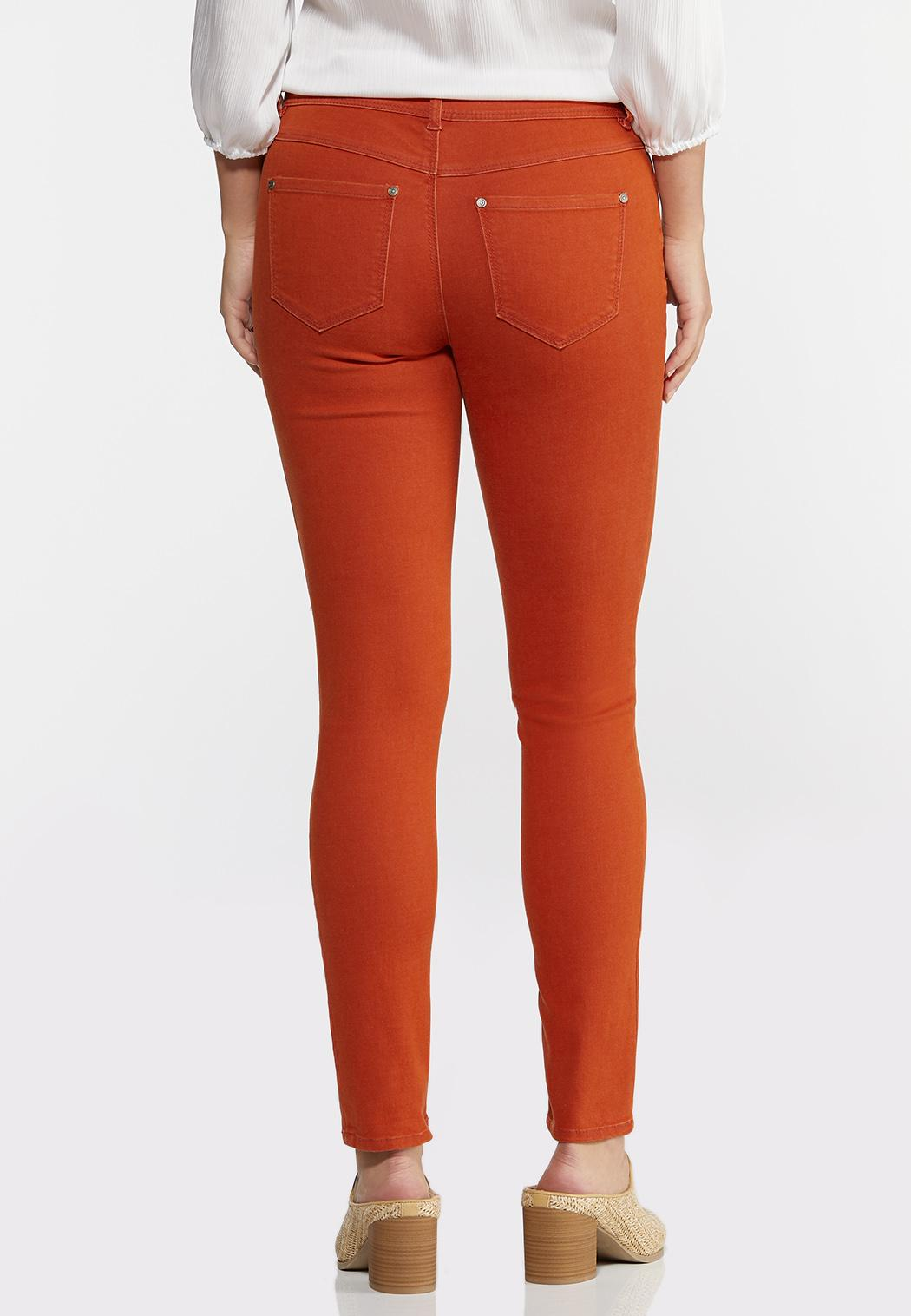 Mid-Rise Colored Skinny Jeans (Item #44332619)