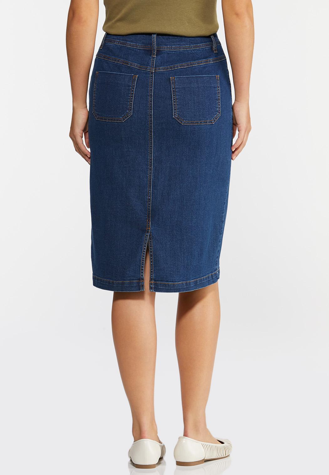 Button Pocket Denim Skirt (Item #44333228)
