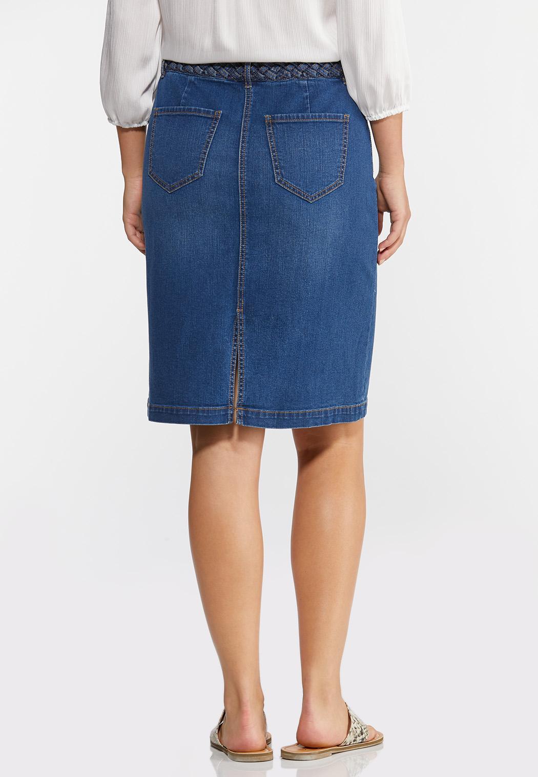 Braided Denim Skirt (Item #44333308)