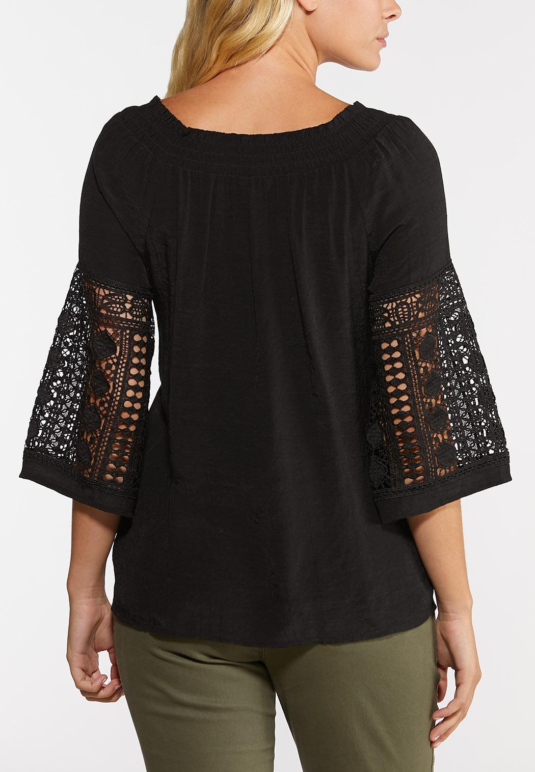 Convertible Crochet Sleeve Top (Item #44333329)