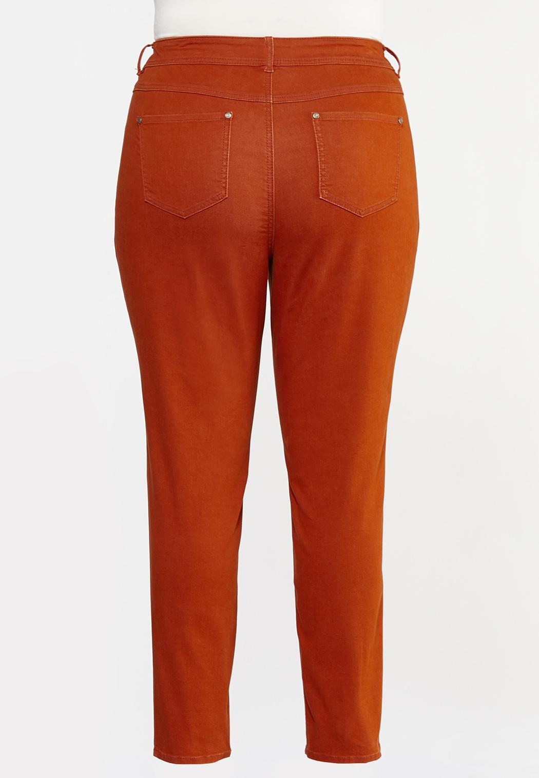 Plus Size High-Rise Colored Skinny Jeans (Item #44333825)