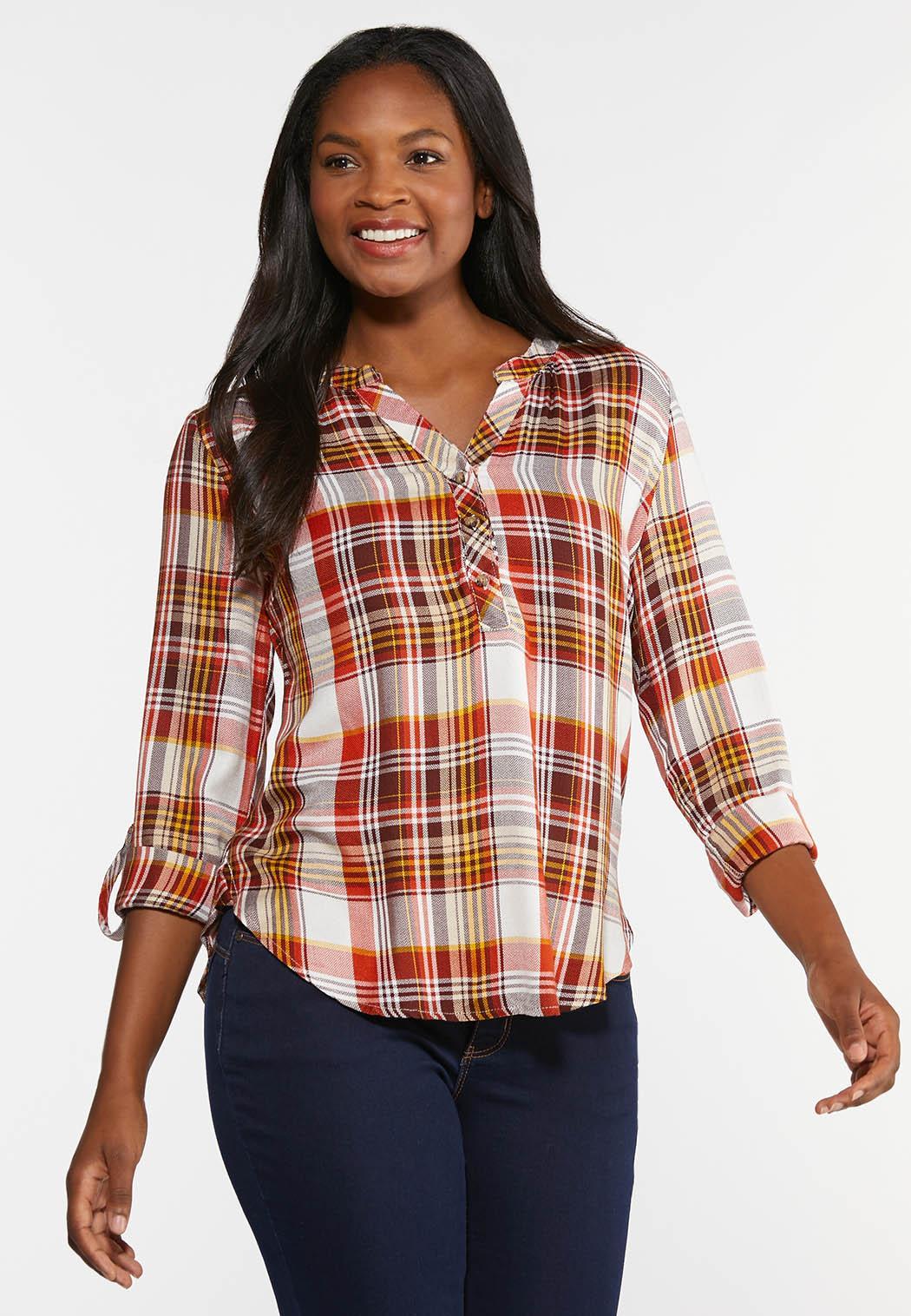 Orange Plaid Shirt (Item #44334337)