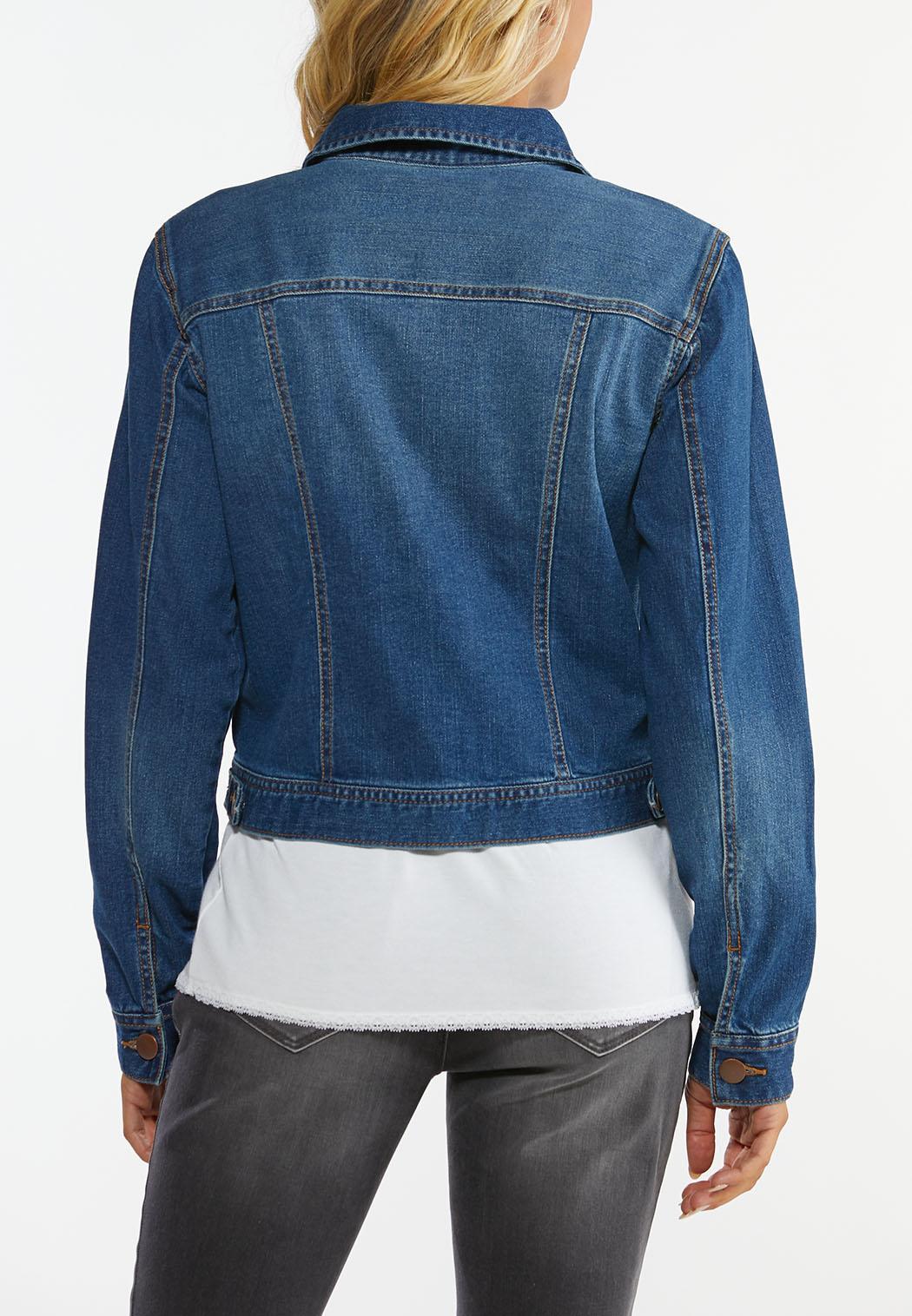 Plus Size Core Denim Jacket (Item #44334657)