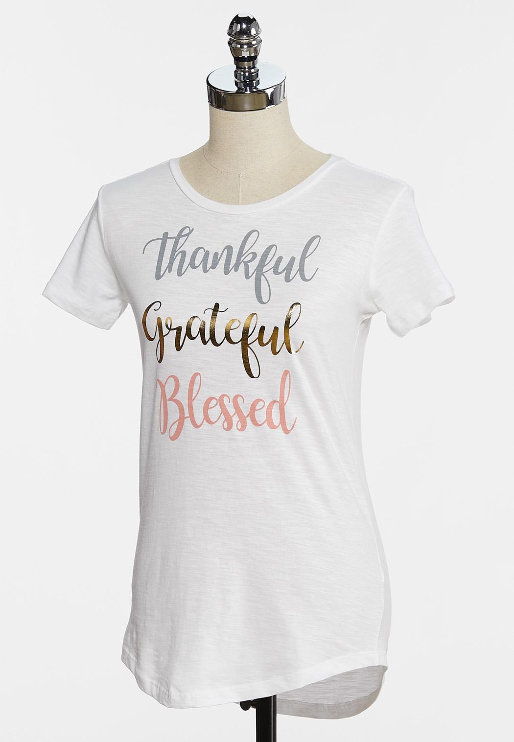 Thankful Grateful Blessed Tee (Item #44335285)