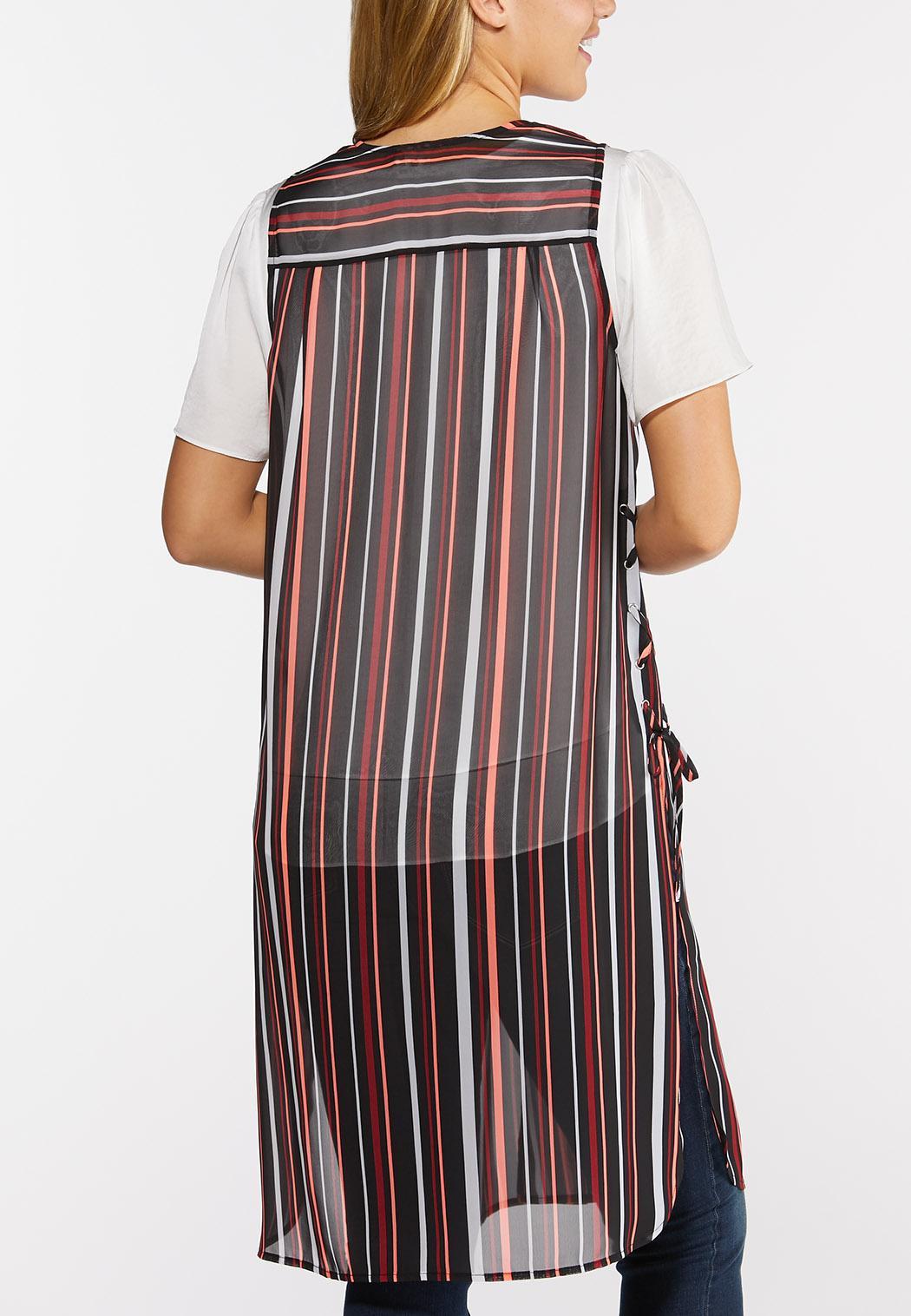 Plus Size Summer Sheer Print Vest (Item #44335858)