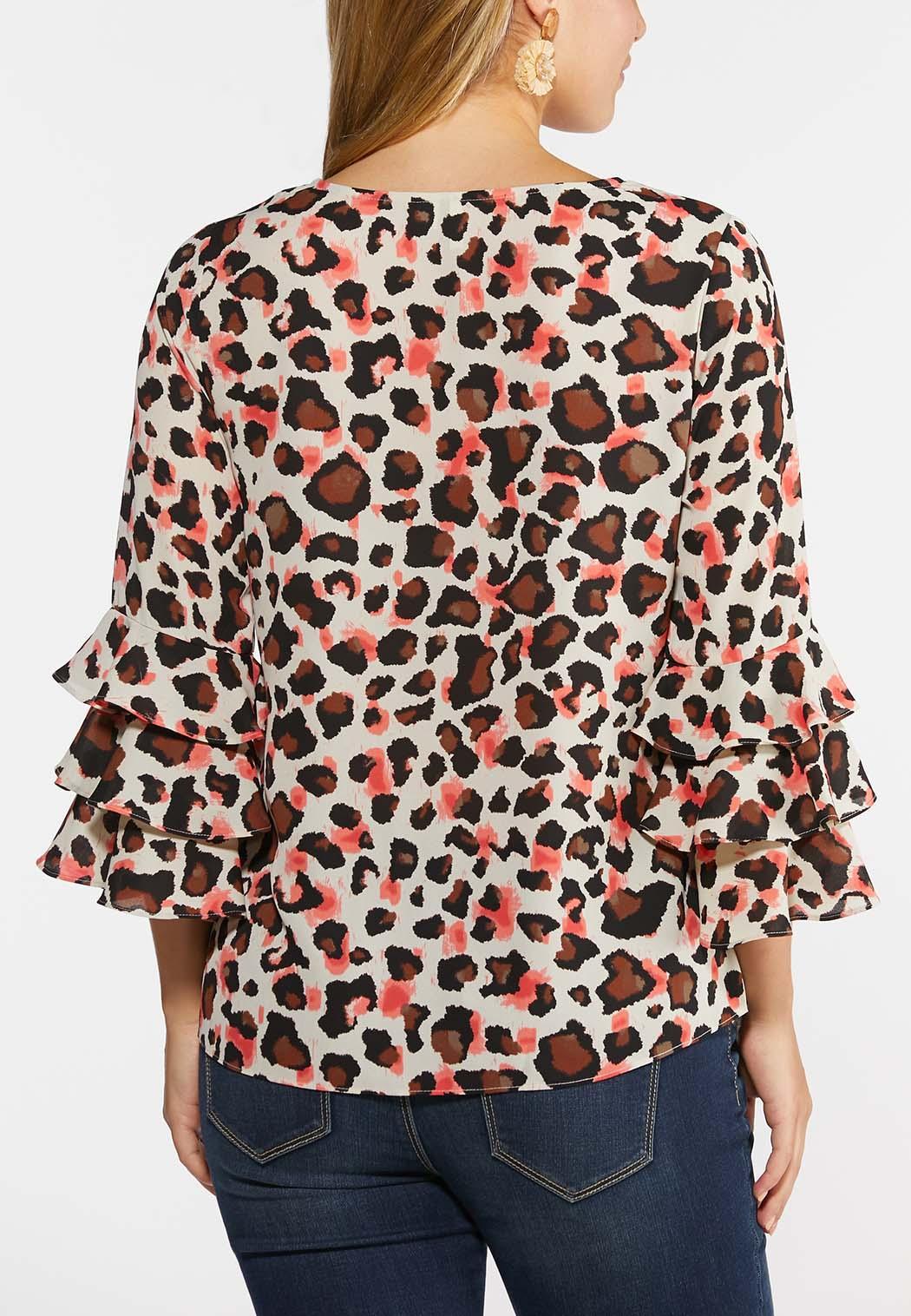 Blushing Leopard Print Top (Item #44336552)