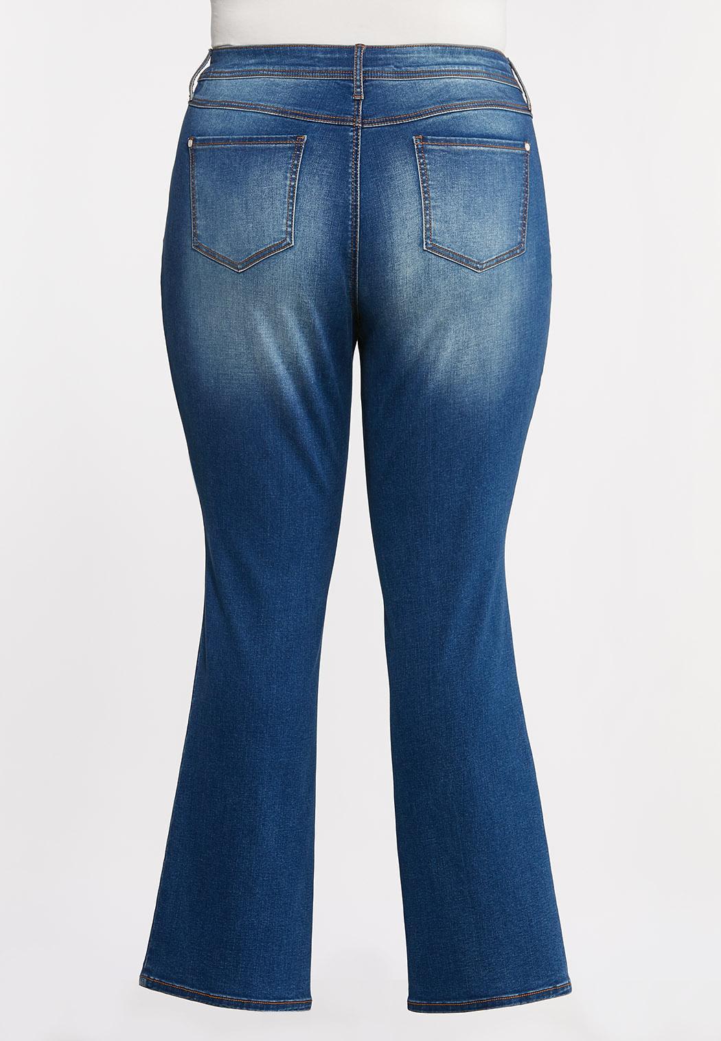 Plus Size Curvy Bootcut Jeans (Item #44339991)