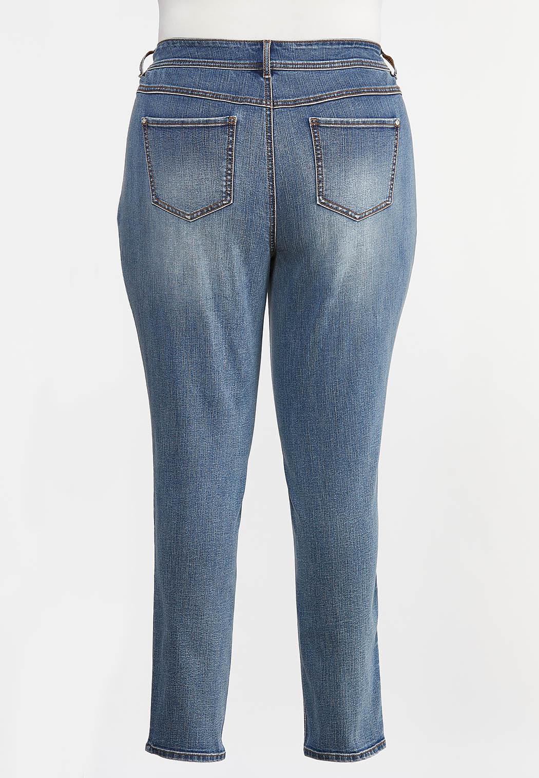 Plus Size Curvy Shape Enhancing Skinny Jeans (Item #44342309)