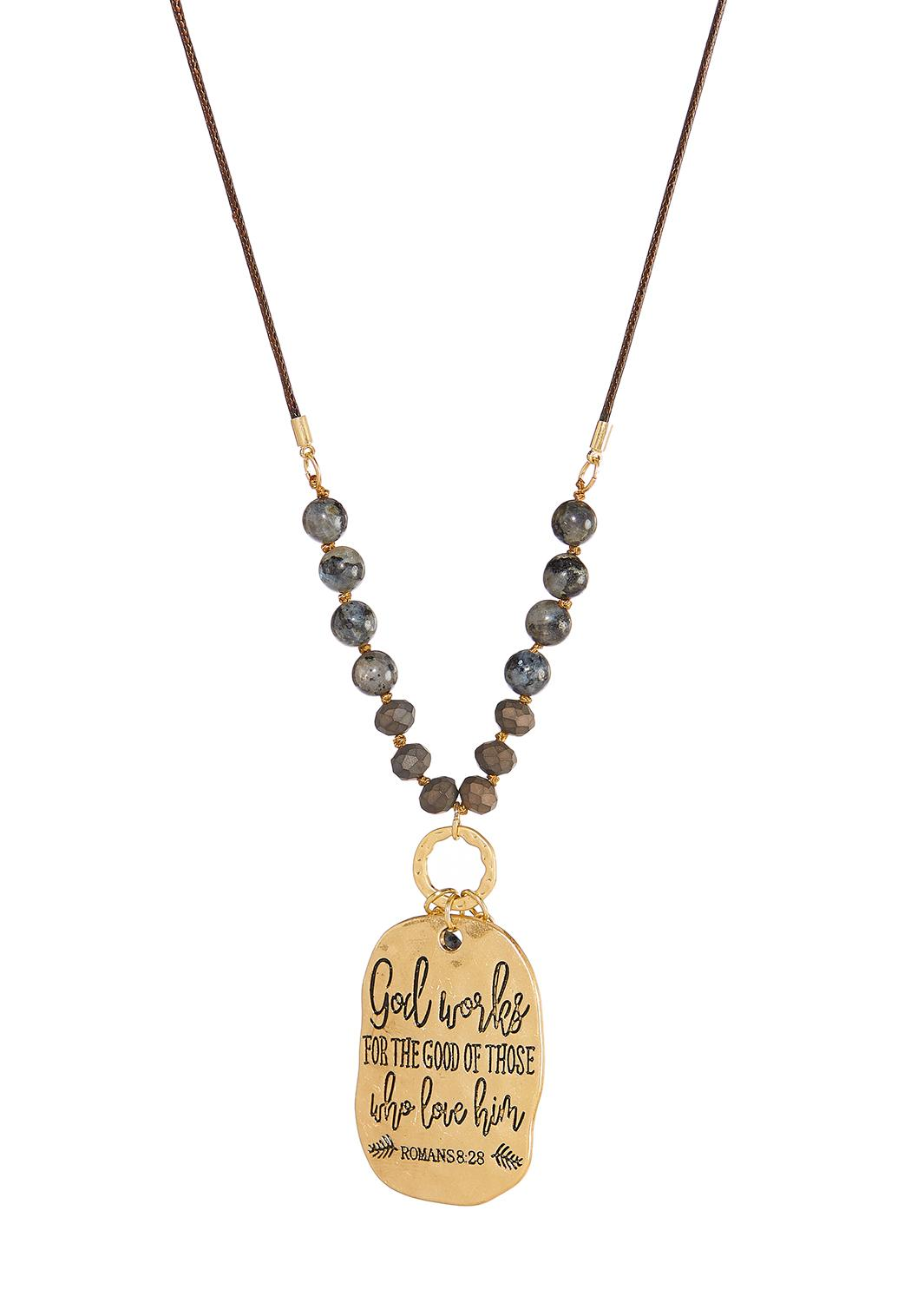 God Works Inspirational Necklace (Item #44342643)