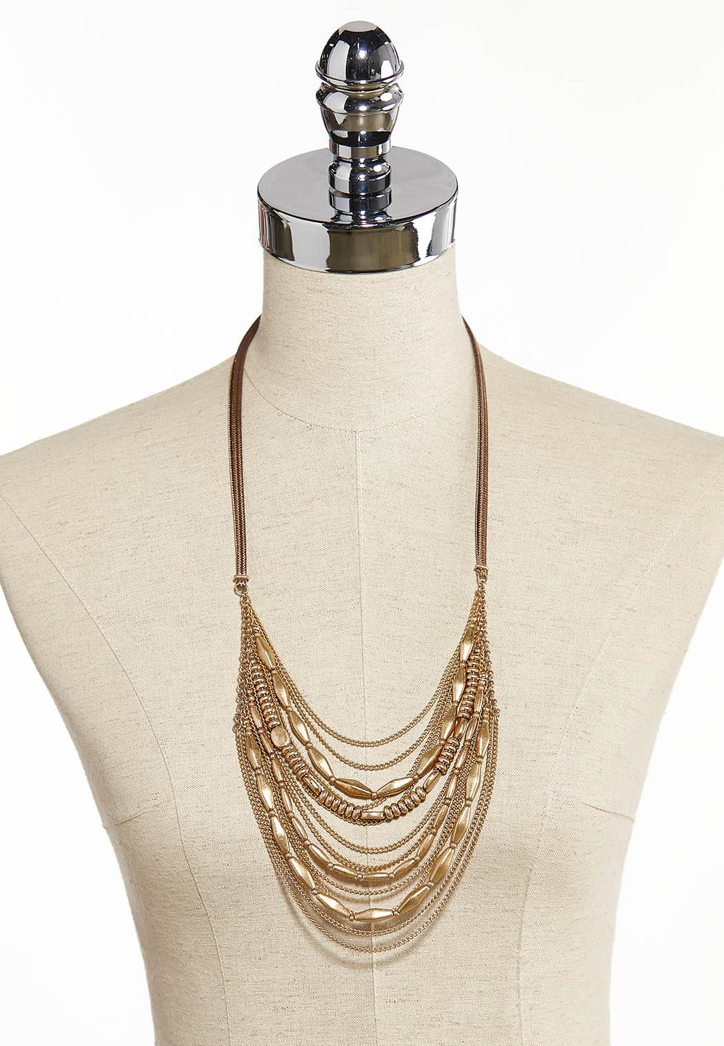 Mixed Chain Cord Necklace (Item #44342707)