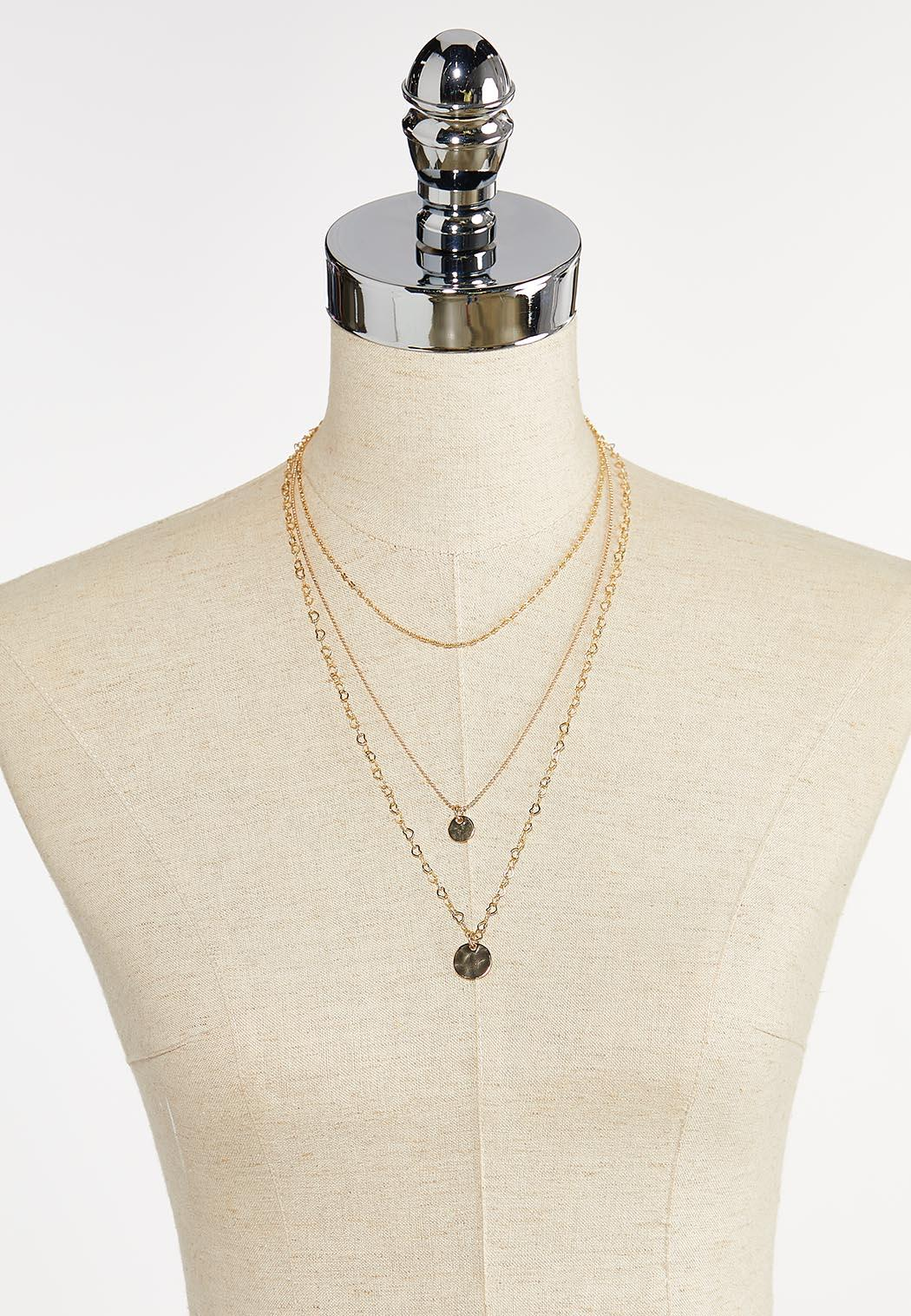 Delicate Layered Disc Chain Necklace (Item #44342719)