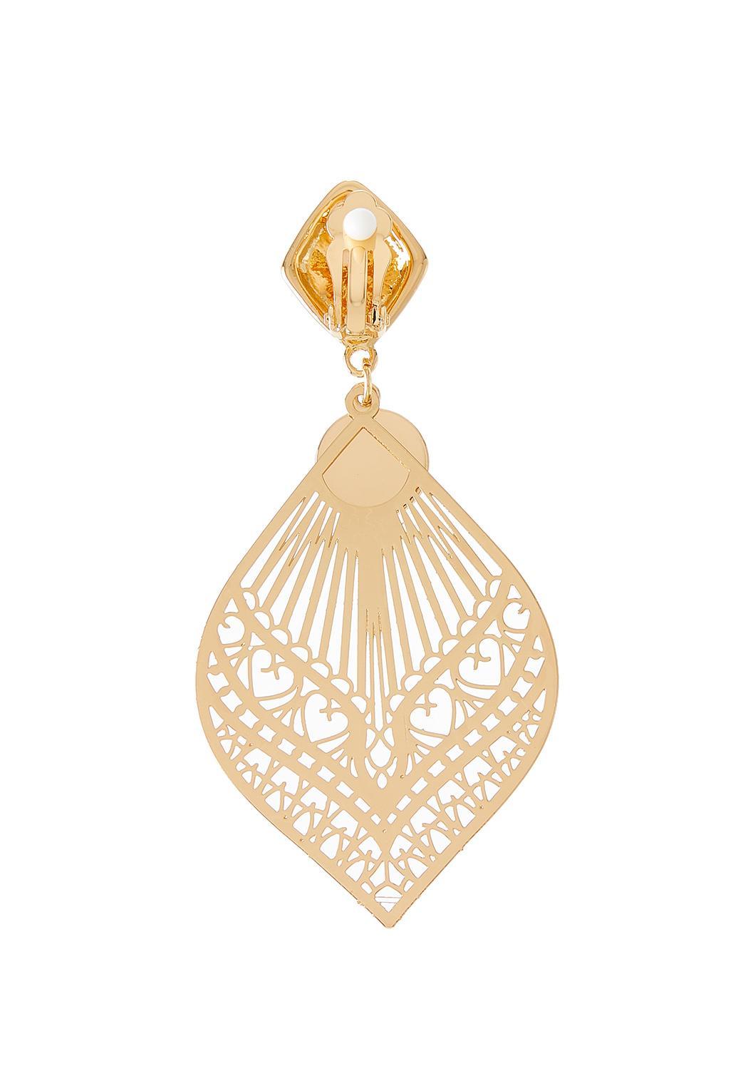 Moroccan Filigree Clip Earrings (Item #44342935)