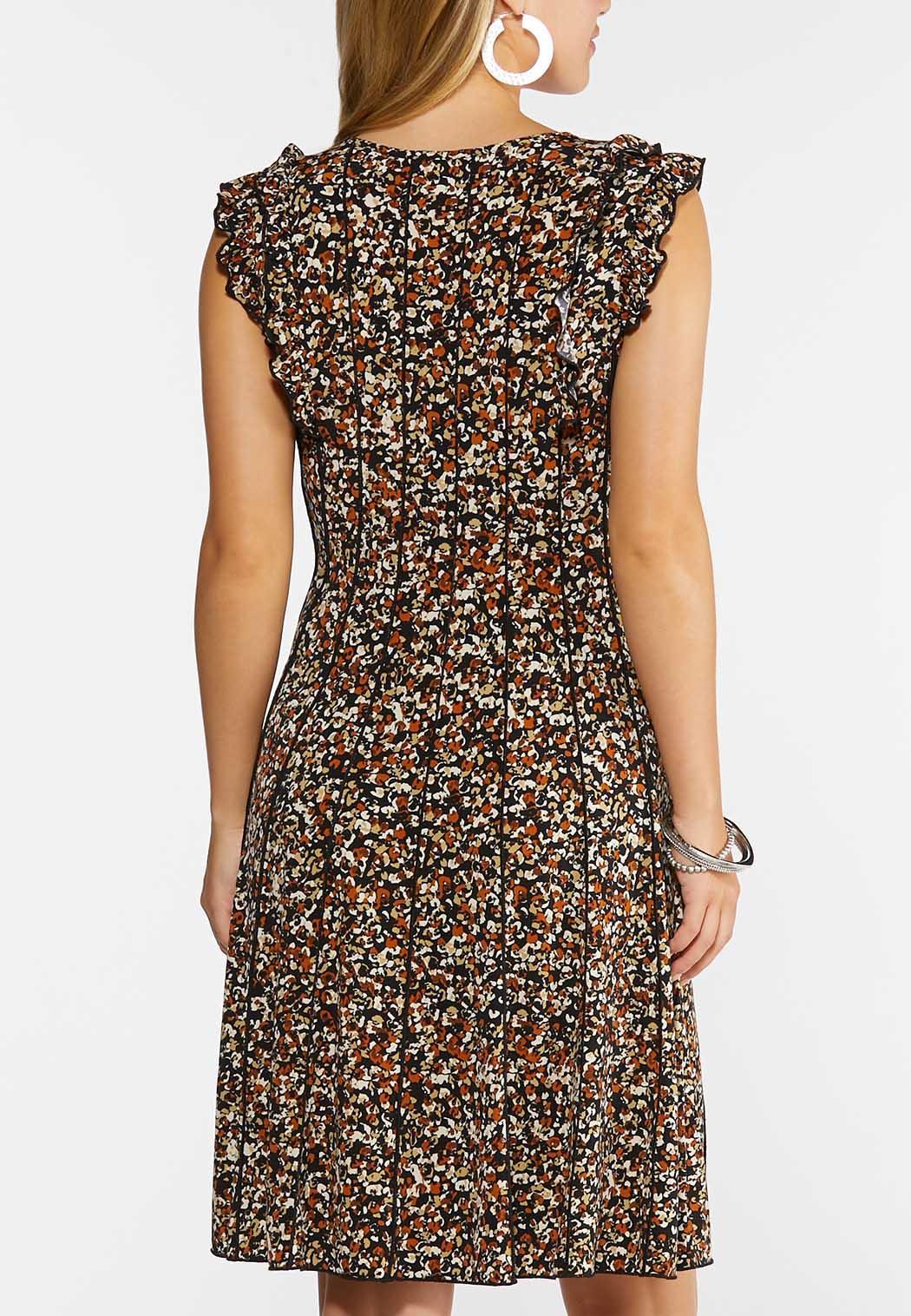 Seamed Ruffled Sleeve Dress (Item #44343016)