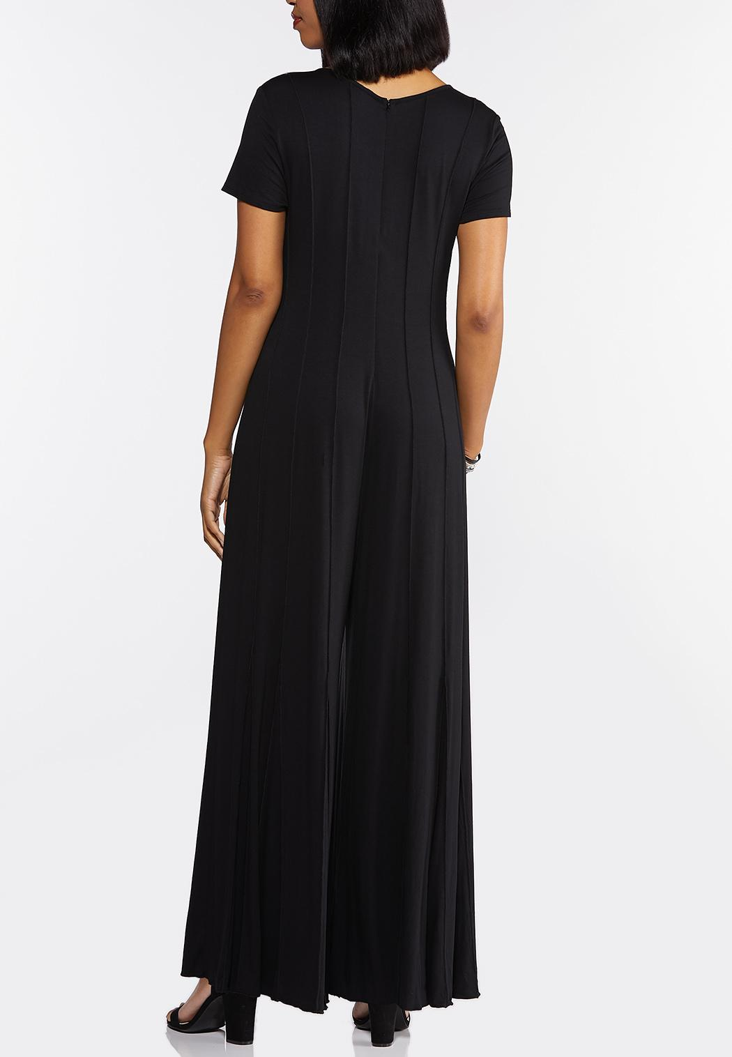 Plus Size Seamed Black Jumpsuit (Item #44343098)