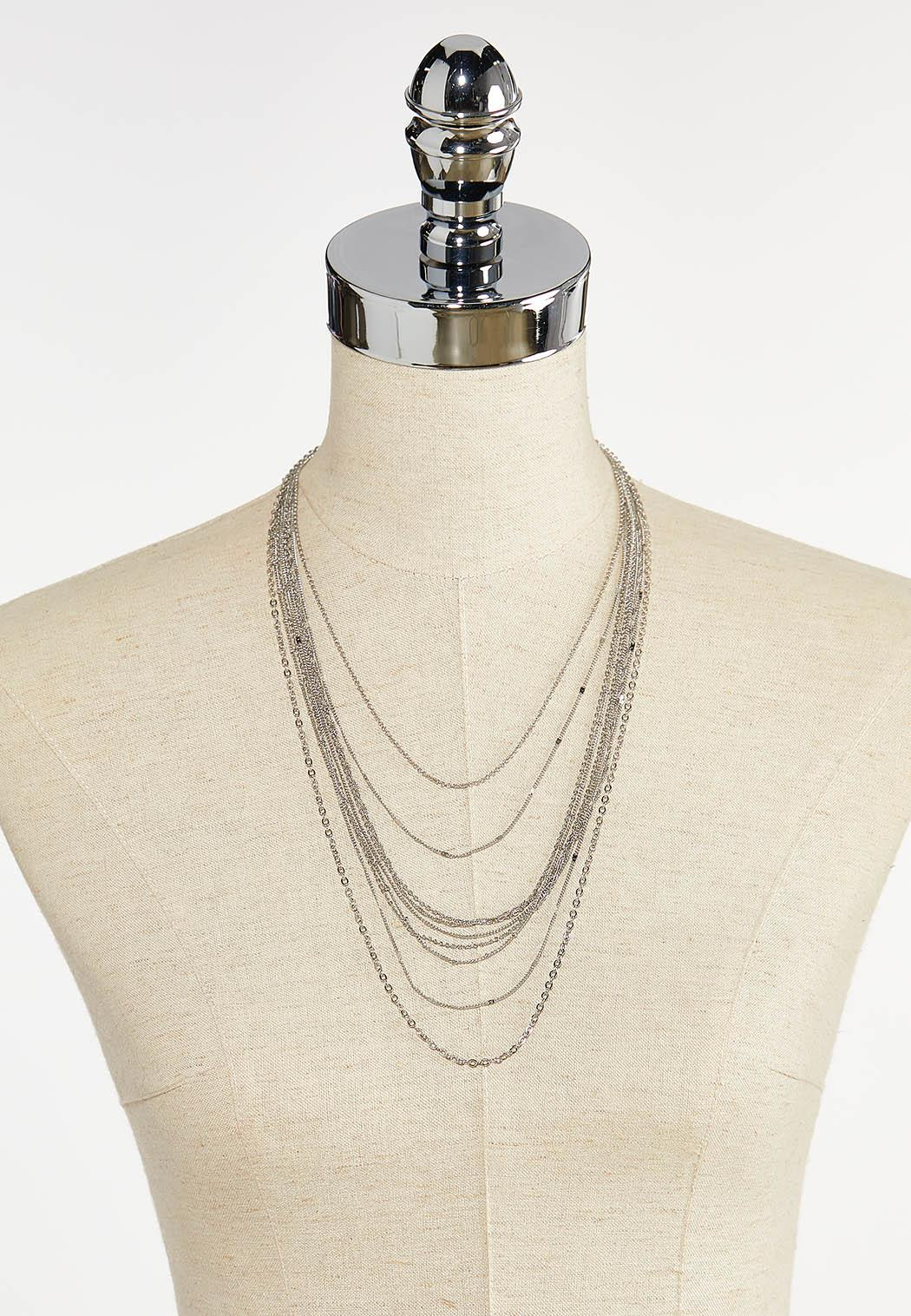 Delicate Layered Chain Necklace (Item #44344206)