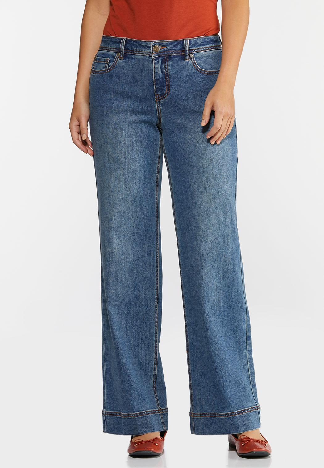 High-Rise Wide Leg Jeans (Item #44344349)