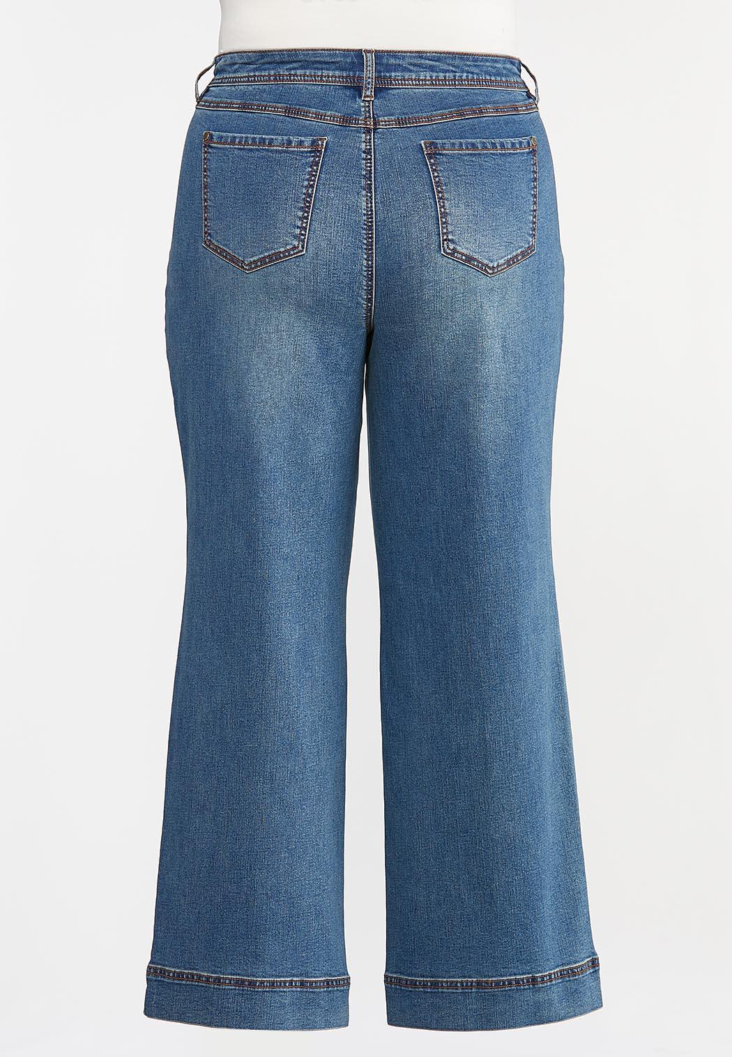 Plus Size High-Rise Wide Leg Jeans (Item #44345250)