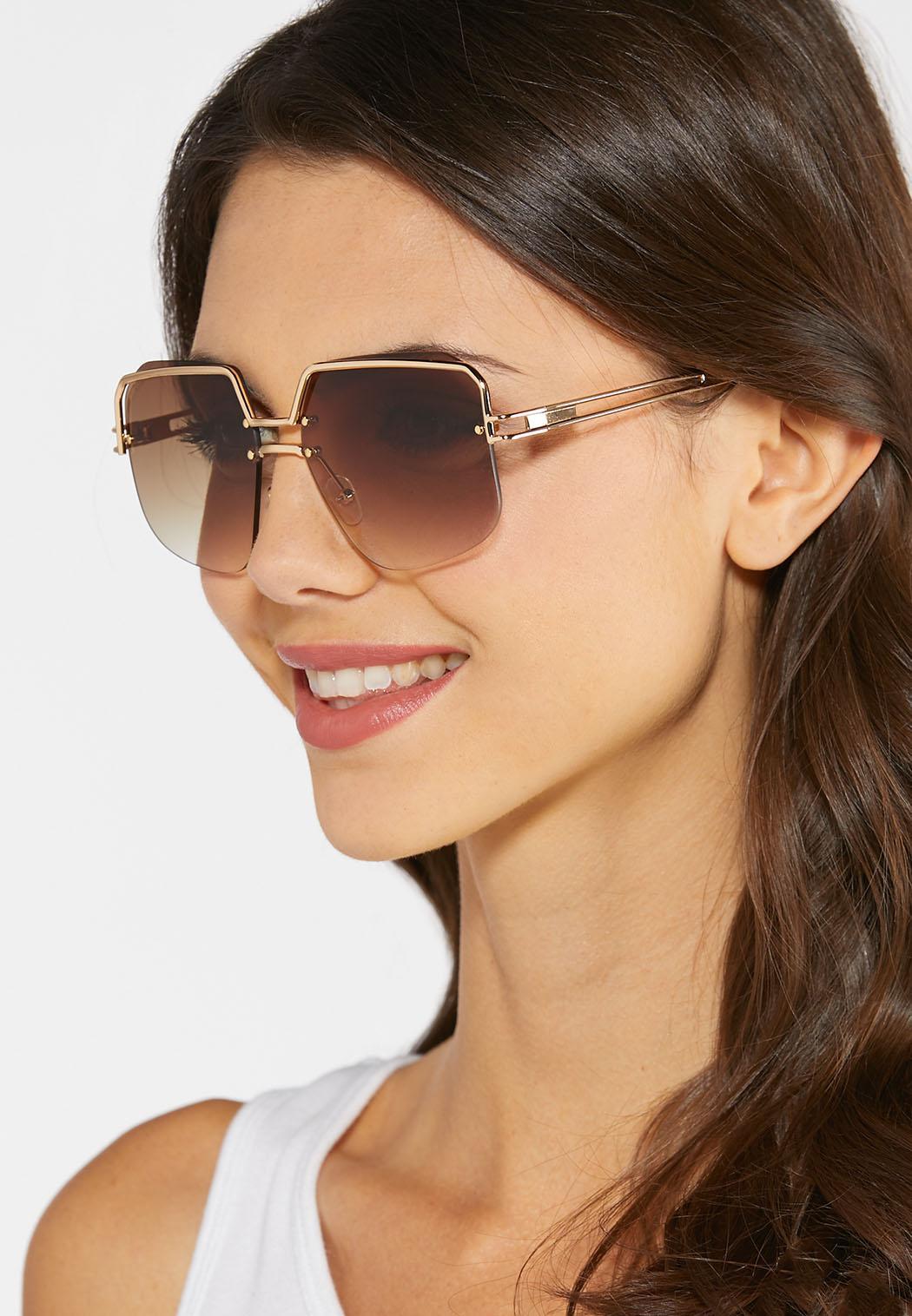 Glam Metal Bar Sunglasses (Item #44345291)