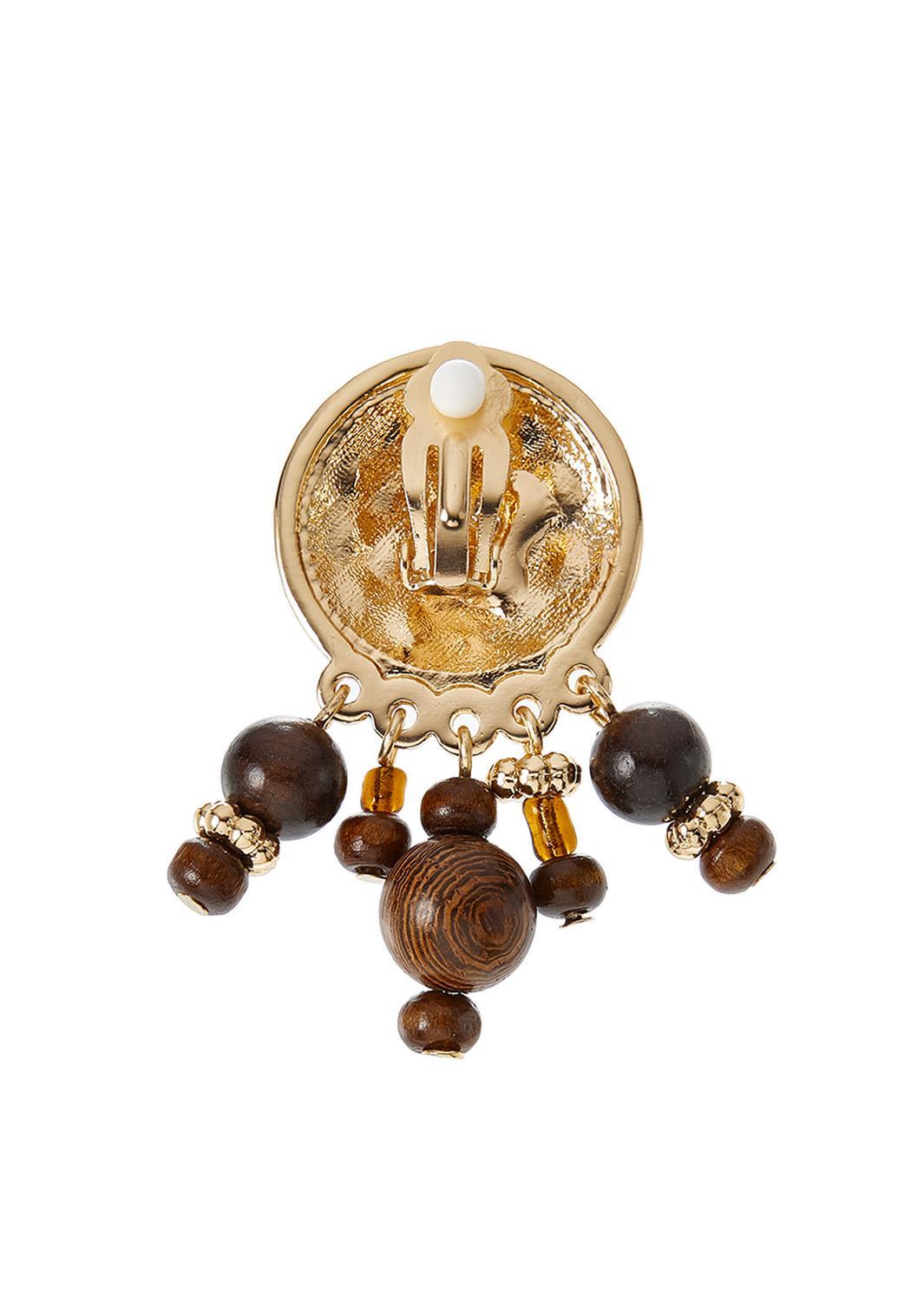 Shaky Wooden Bead Earrings (Item #44345315)