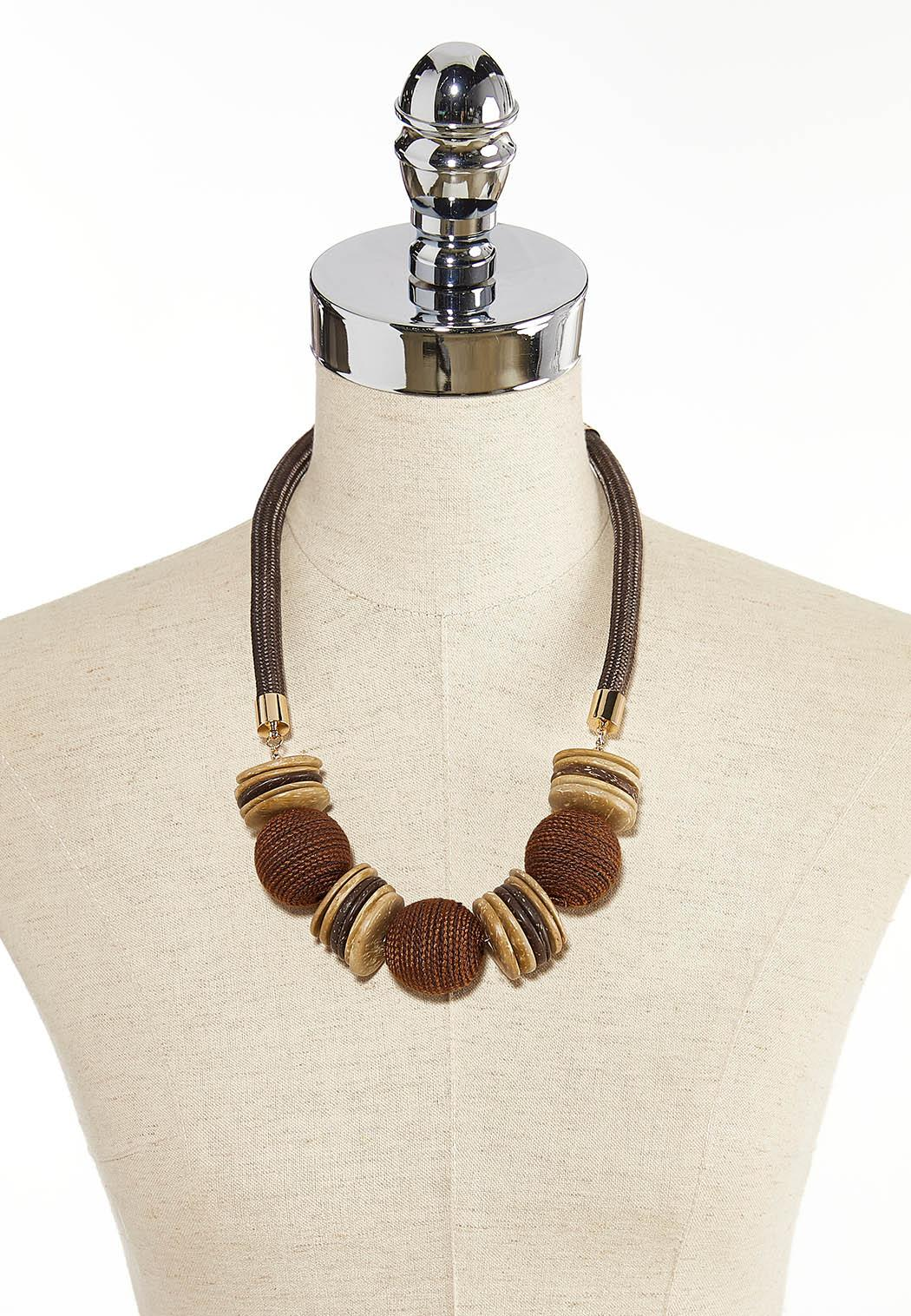 Mixed Button Bead Cord Necklace (Item #44345974)