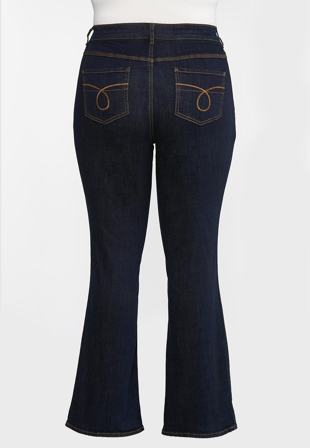 Plus Petite High-Rise Bootcut Jeans (Item #44346724)