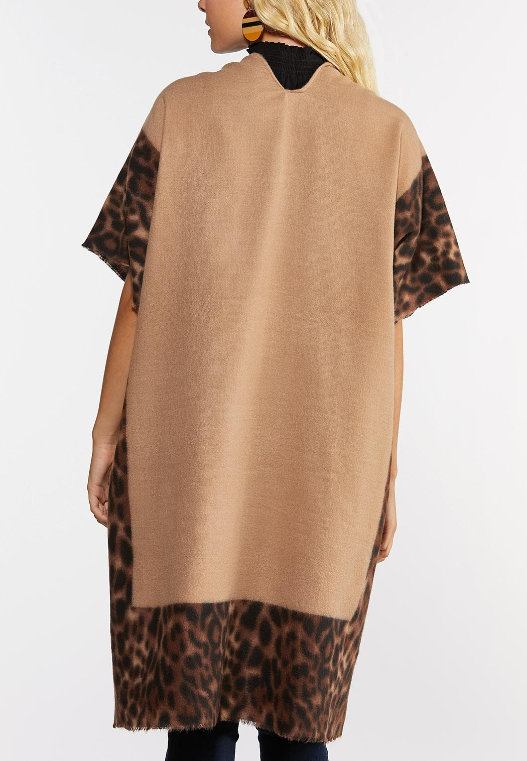 Leopard Border Fleece Poncho (Item #44347482)