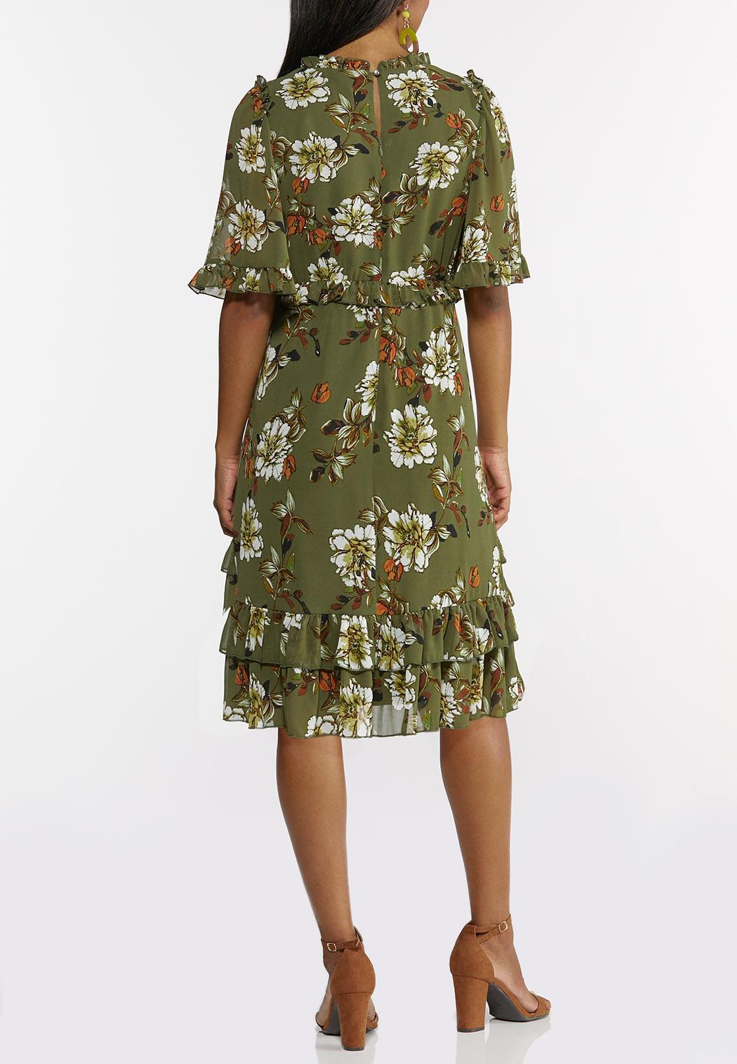 Plus Size Olive Babydoll Dress (Item #44347799)