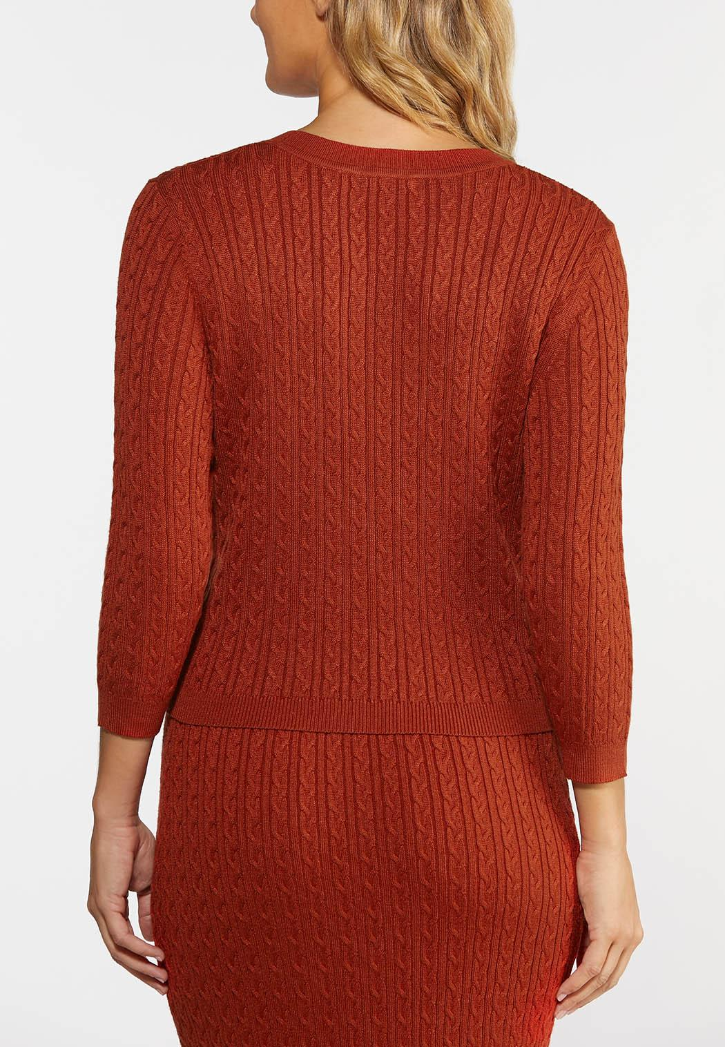 Orange Cable Knit Sweater (Item #44347946)